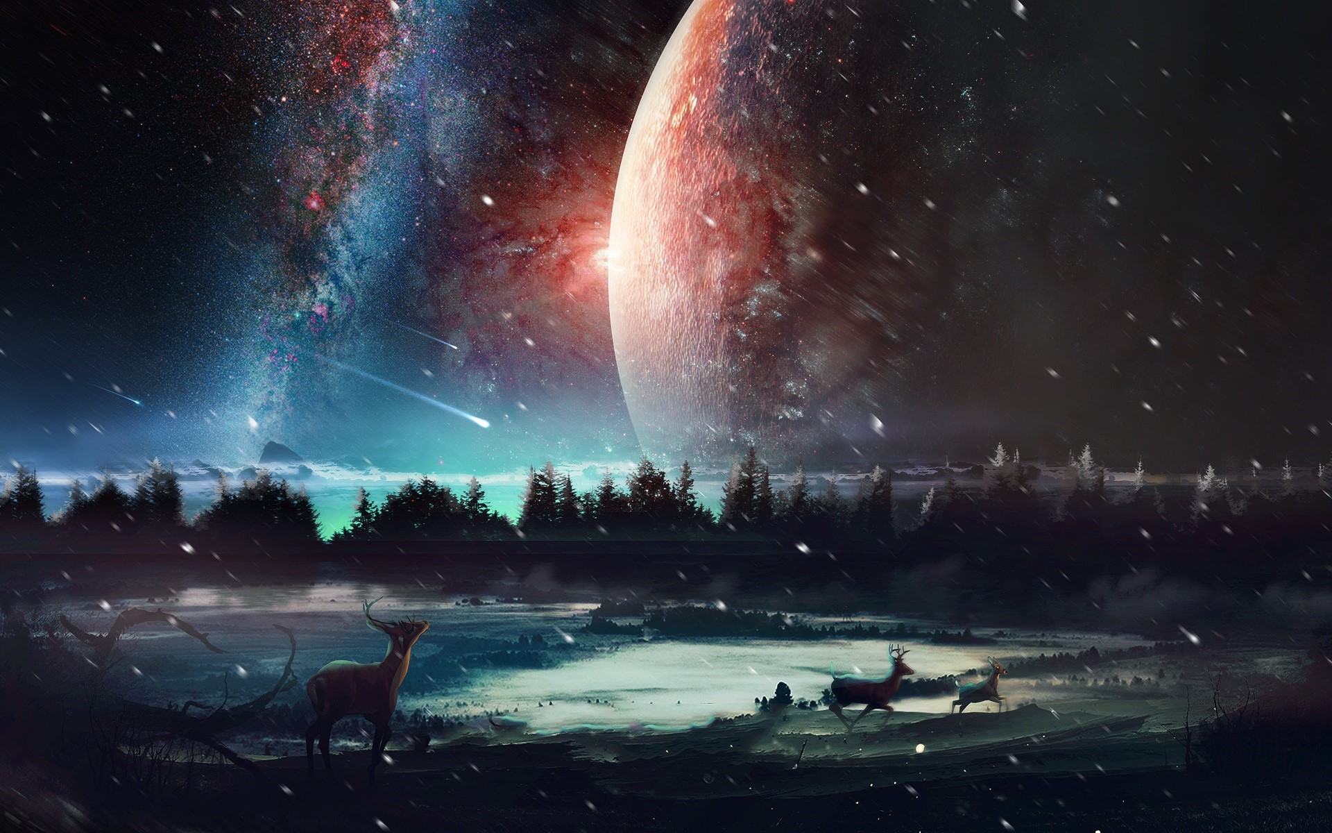 Fondo de pantalla de Paisaje del universo Imágenes