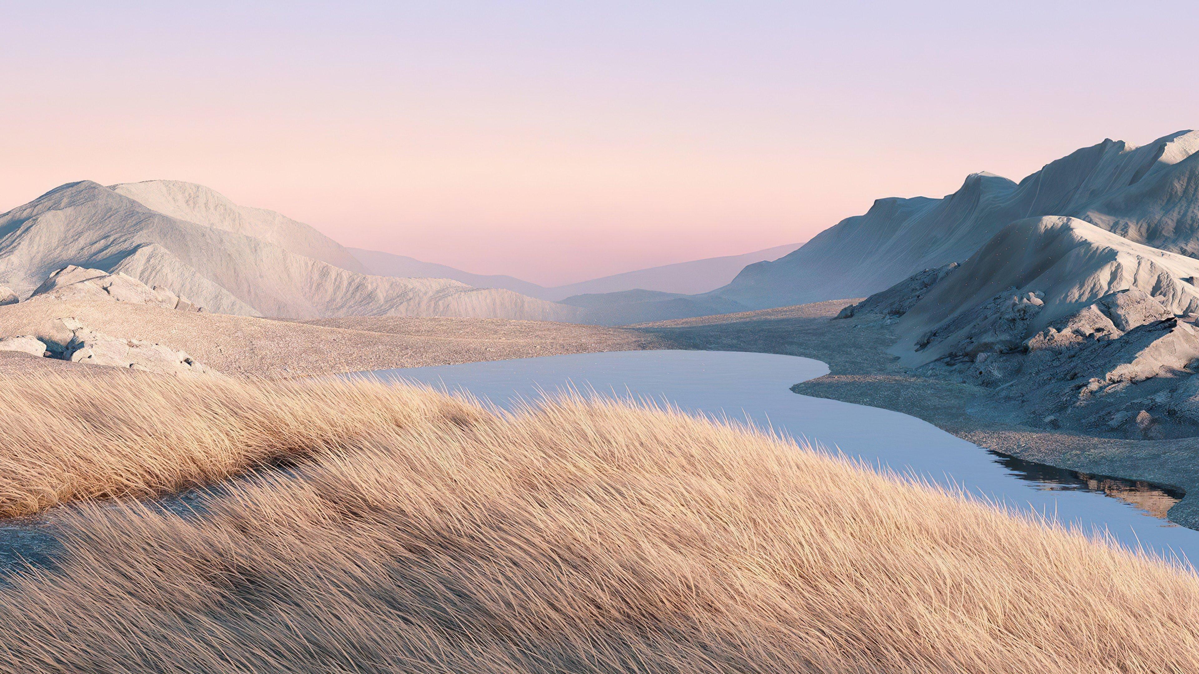 Fondos de pantalla Paisaje digital de montañas