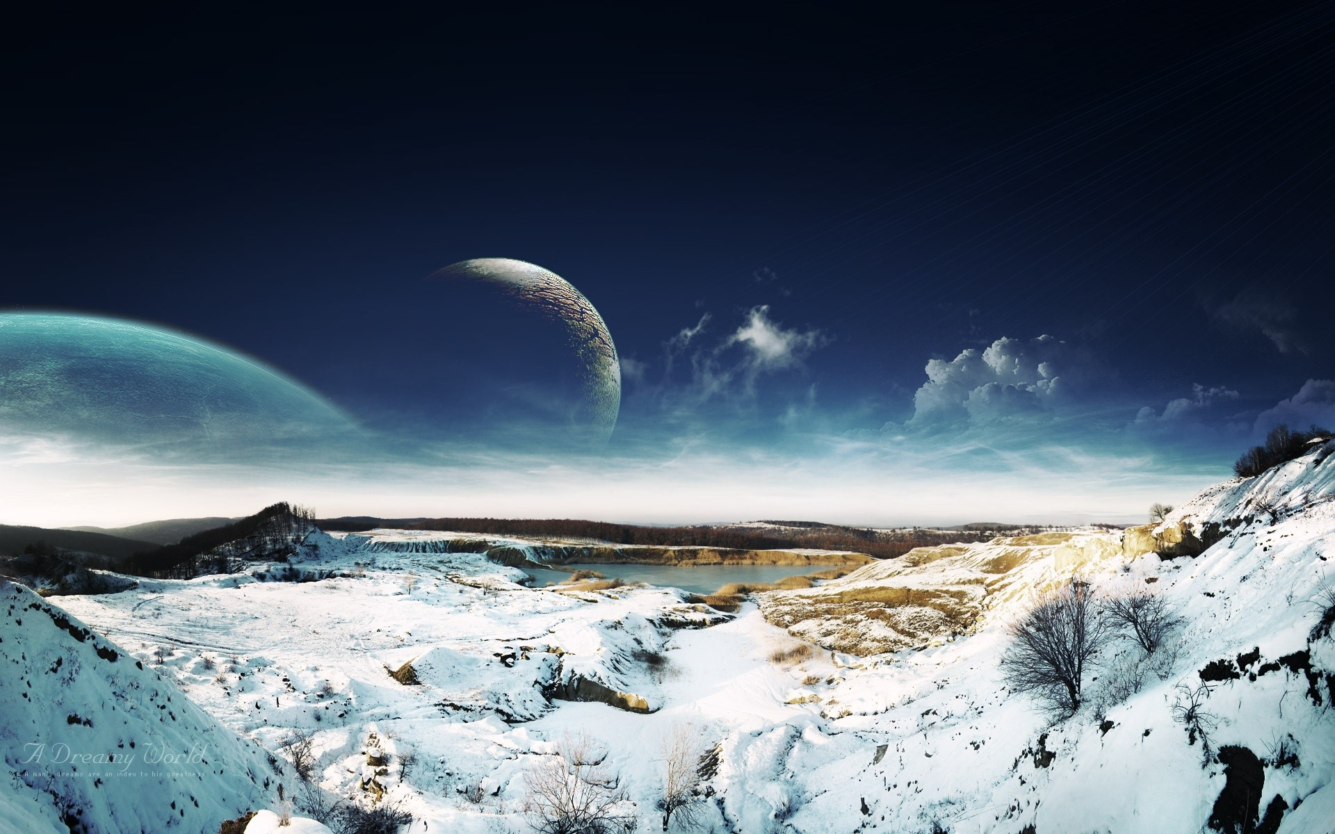 Fondos de pantalla Paisaje nevado de ensueño