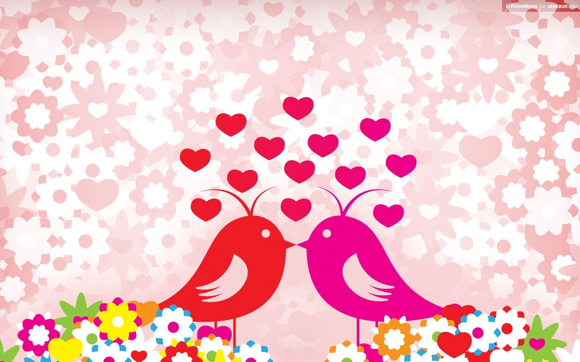 Fondos de pantalla Pajaritos enamorados