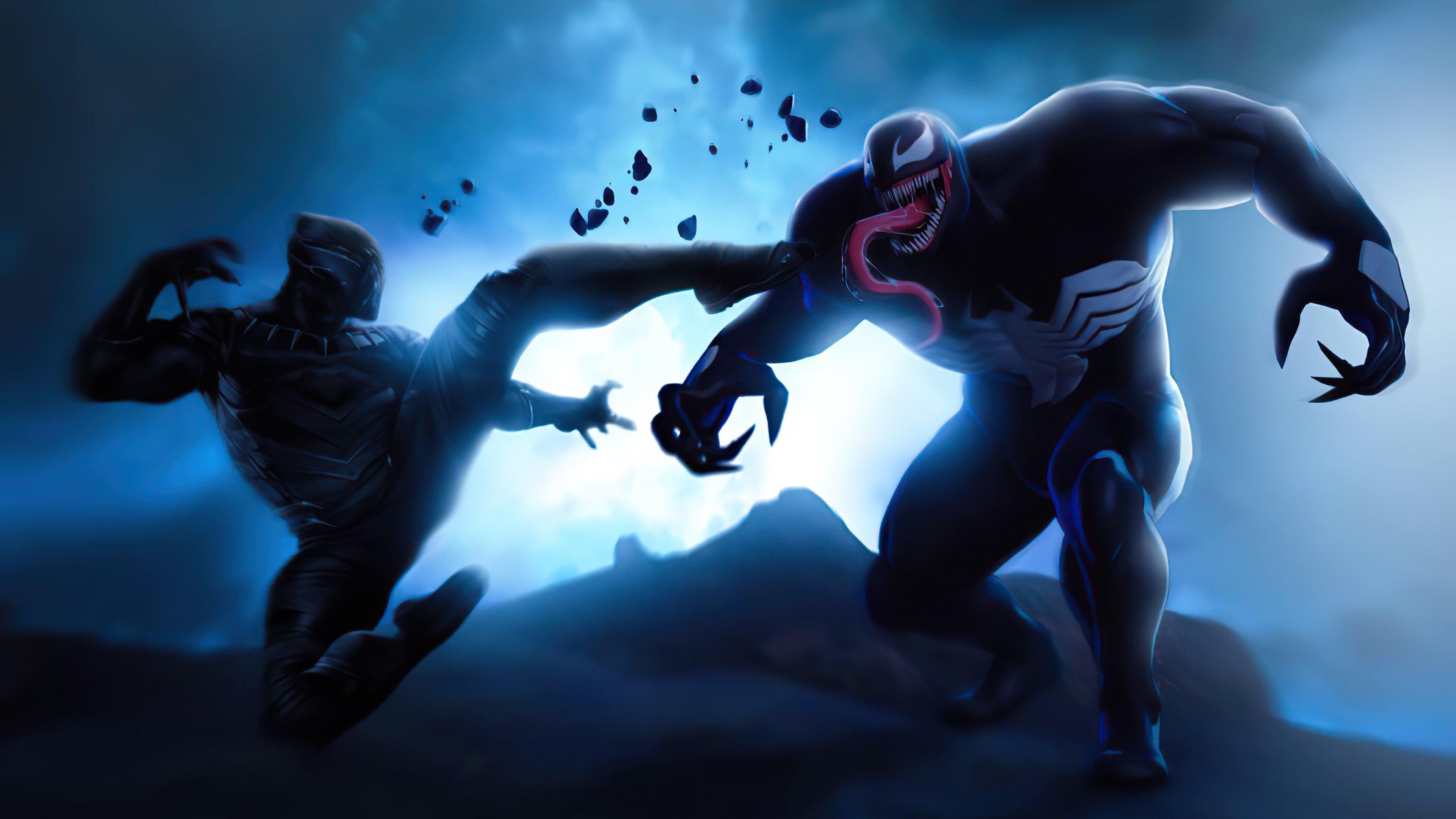 Fondos de pantalla Pantera Negra contra Venom
