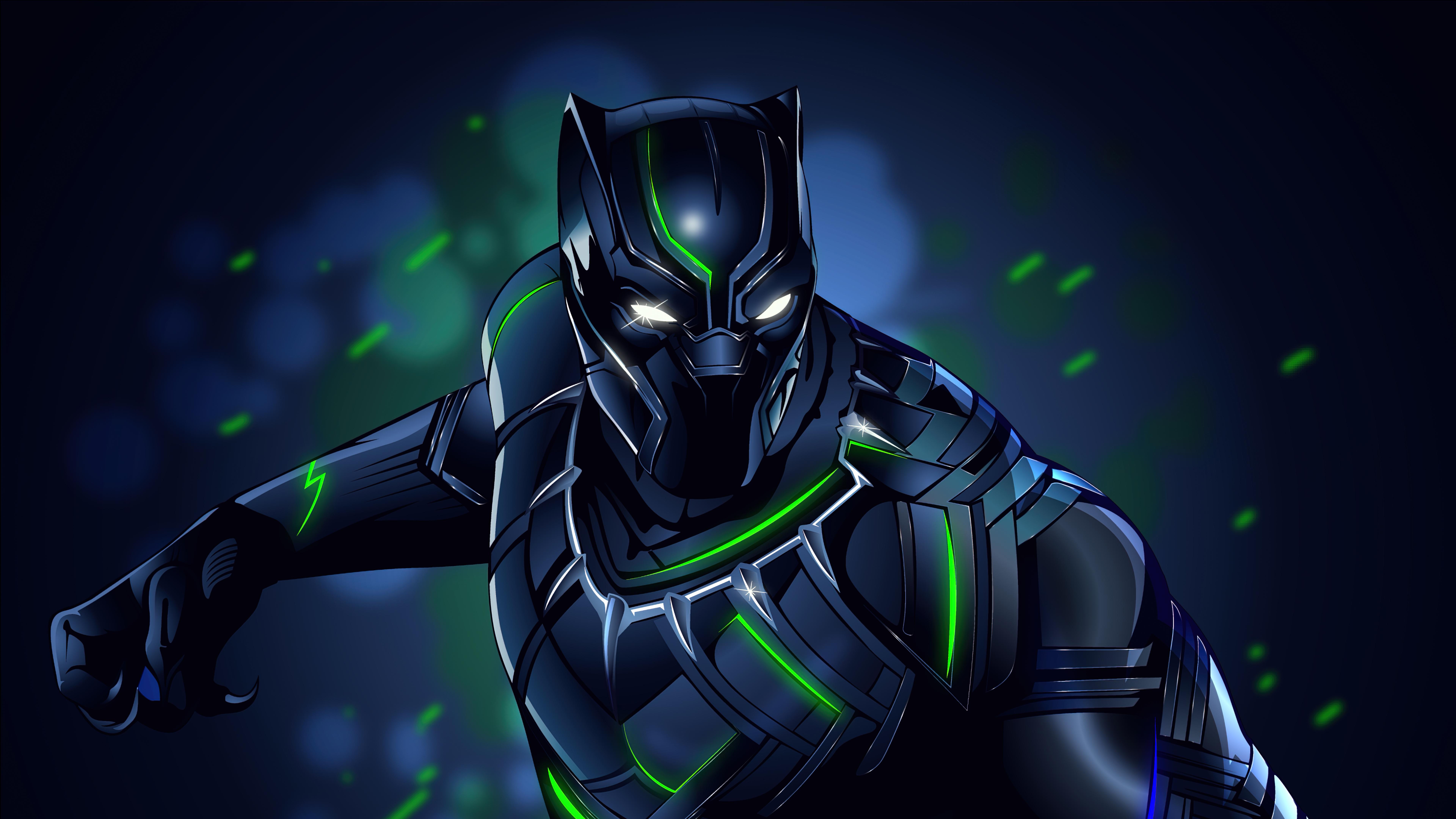 Fondos de pantalla Pantera negra Ilustración