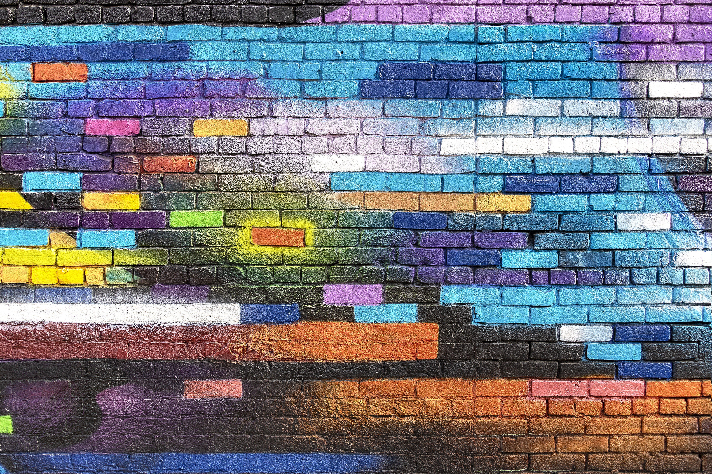 Wallpaper Colorful Wall
