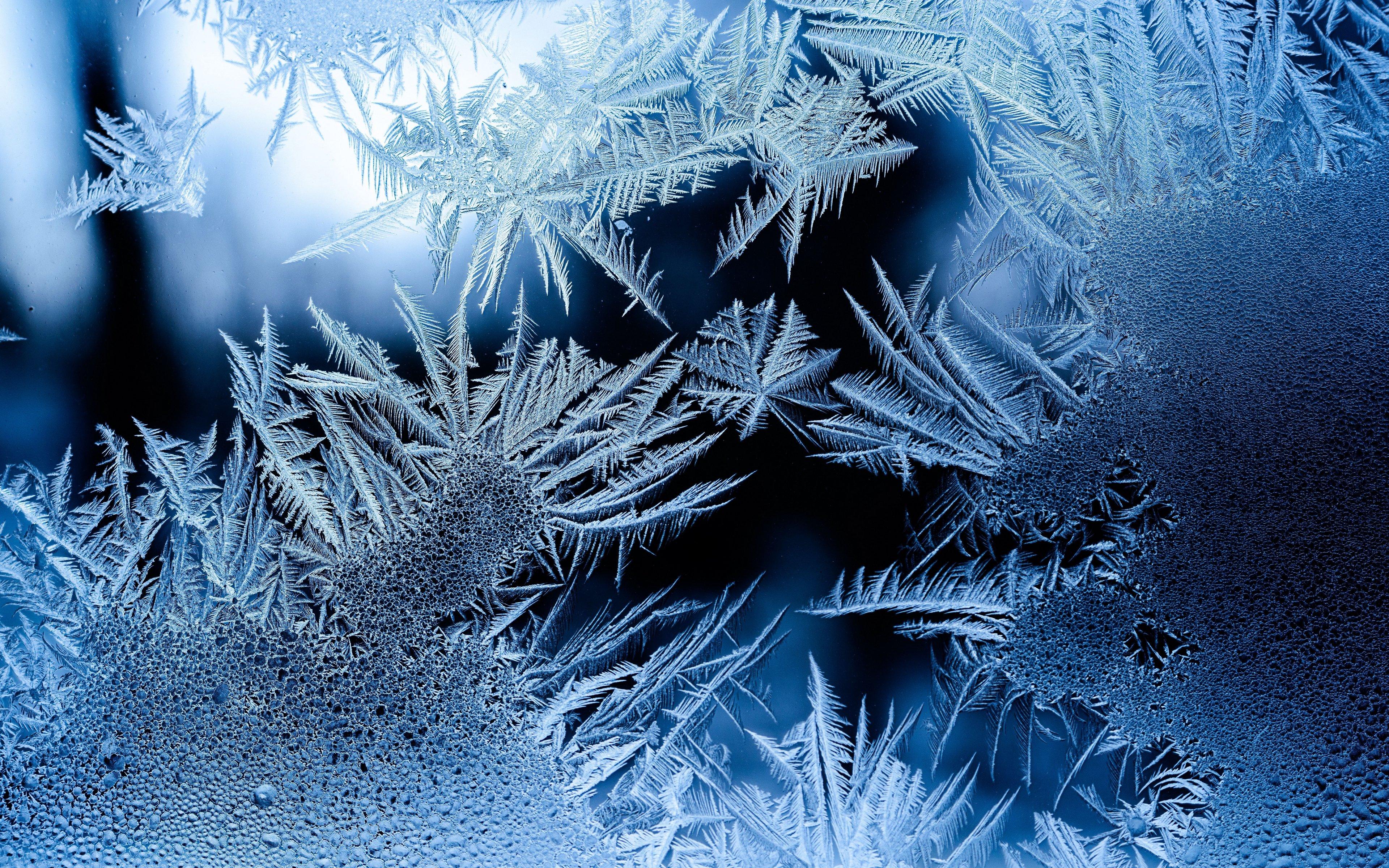 Fondos de pantalla Patrón de copos de nieve