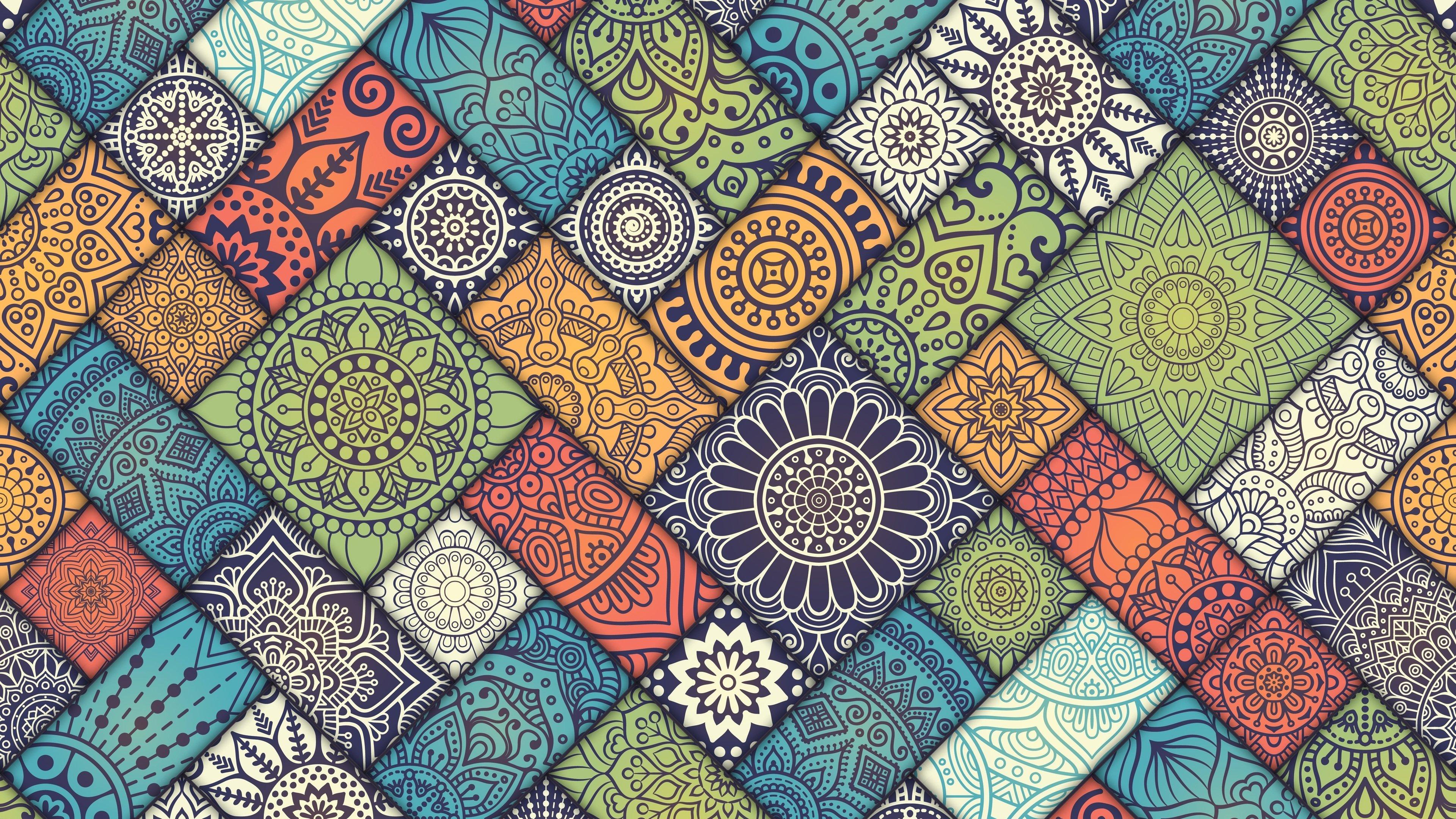 Fondos de pantalla Patrón de Mandala Abstracto