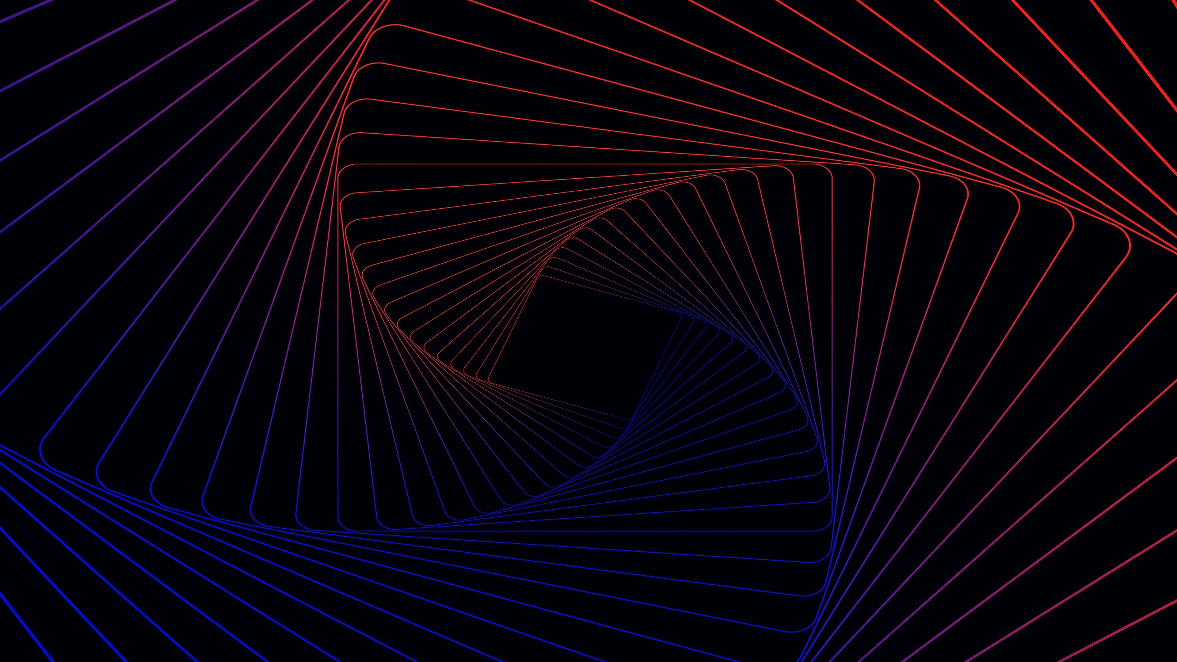 Wallpaper 3D Spiral pattern