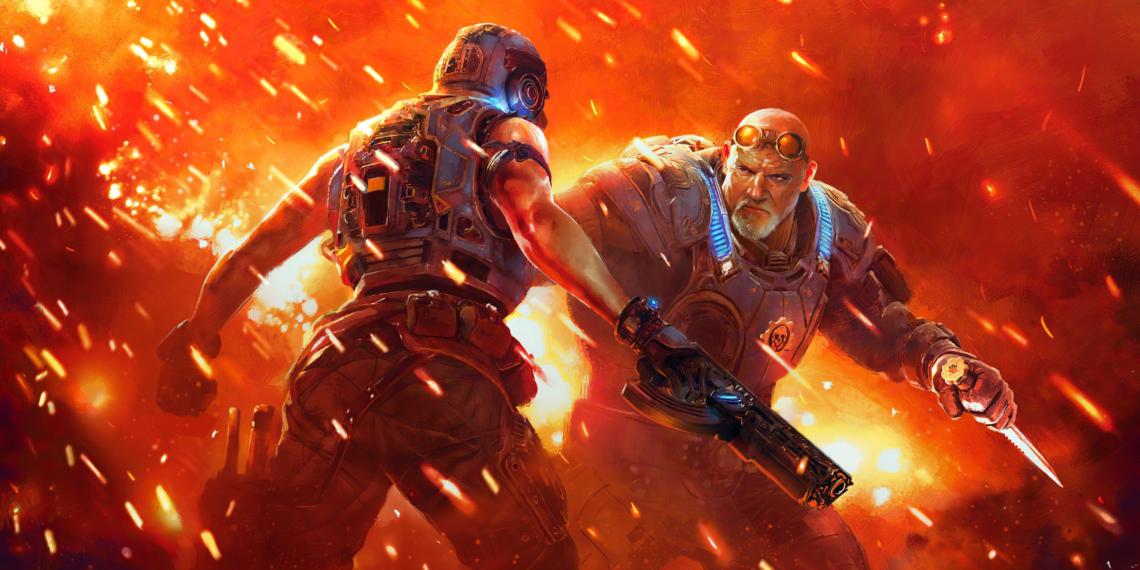 Wallpaper Fight in Gears 5