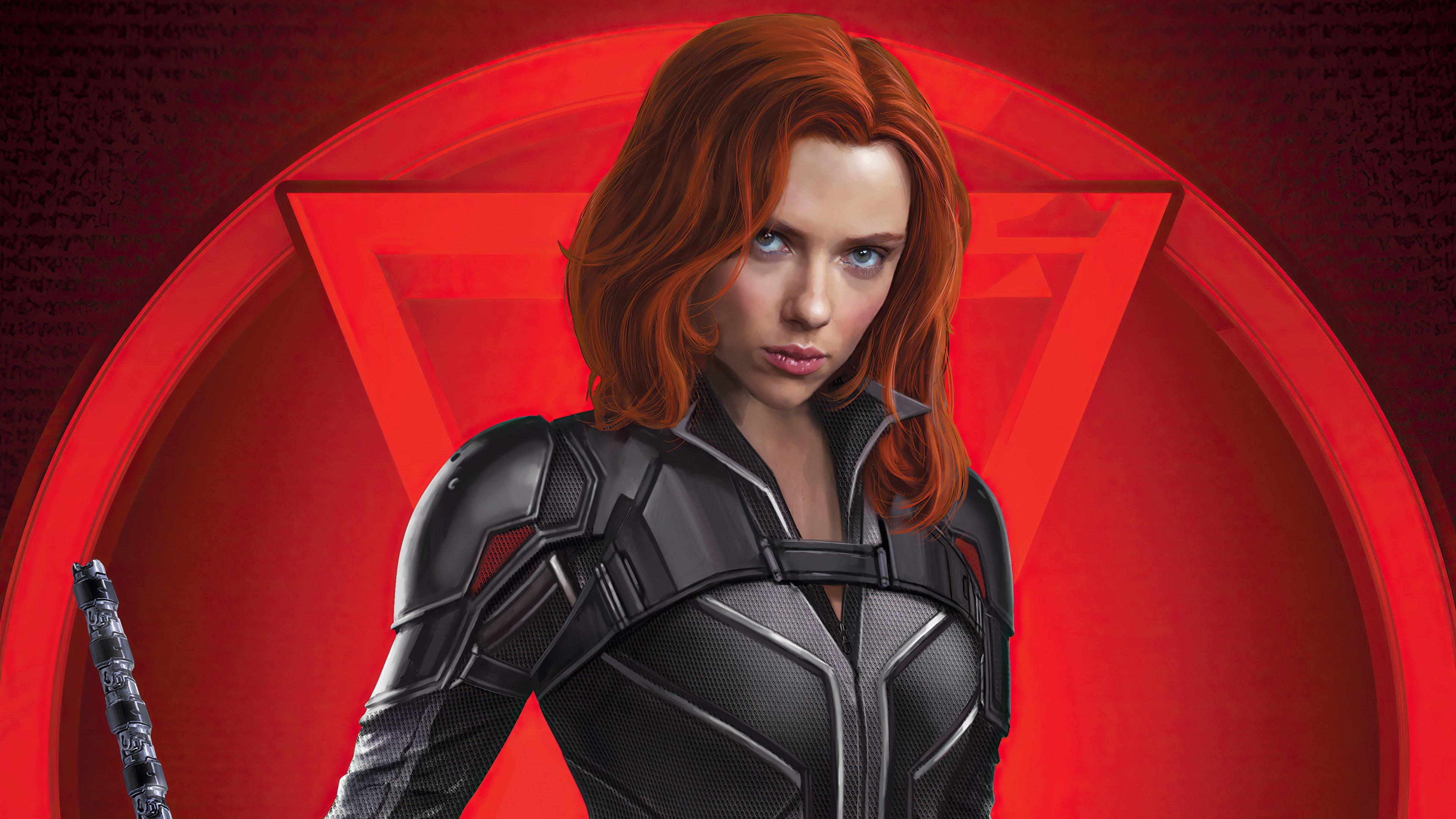 Wallpaper Black Widow Movie Art