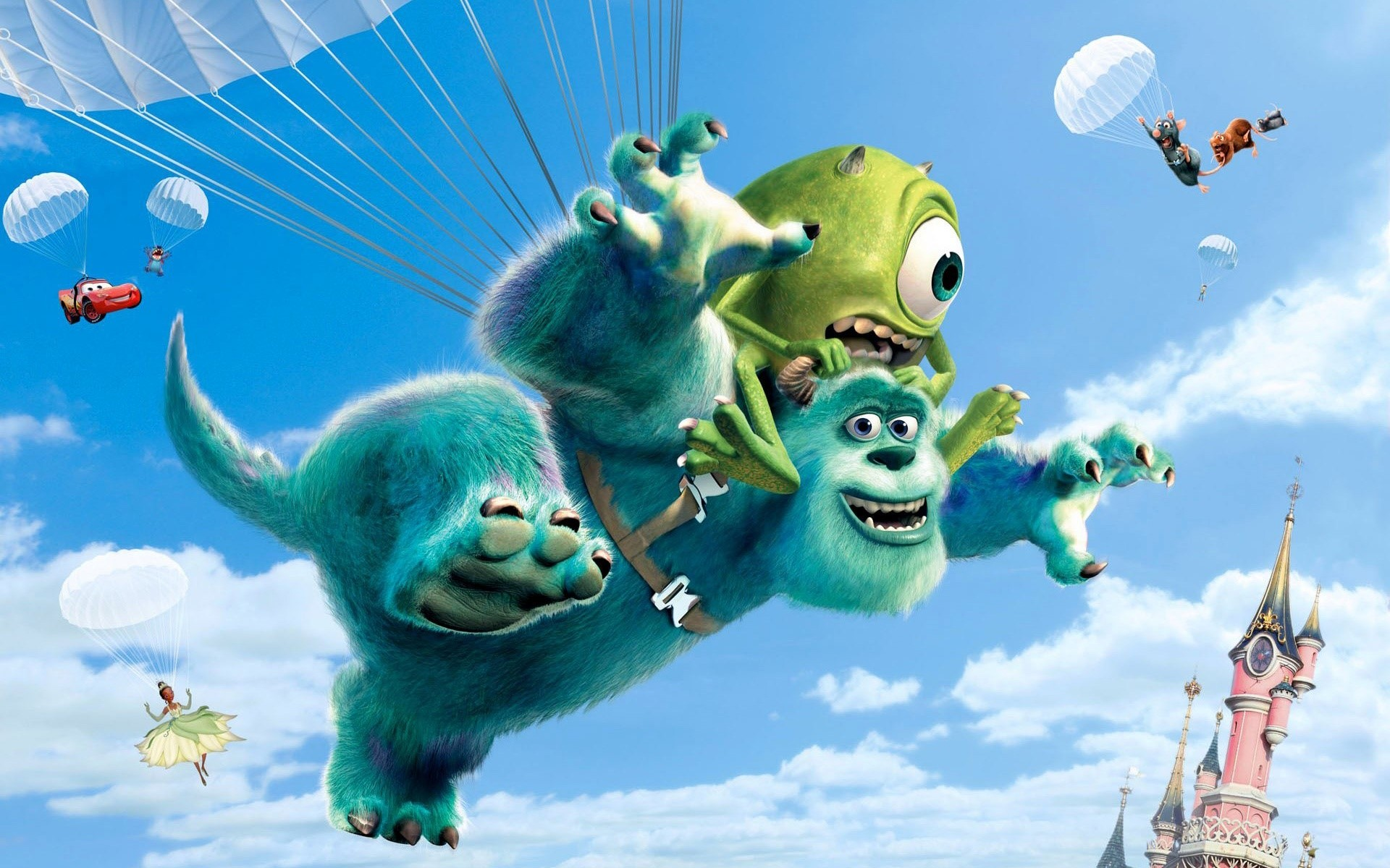Wallpaper Peliculas de Pixar en paracaídas