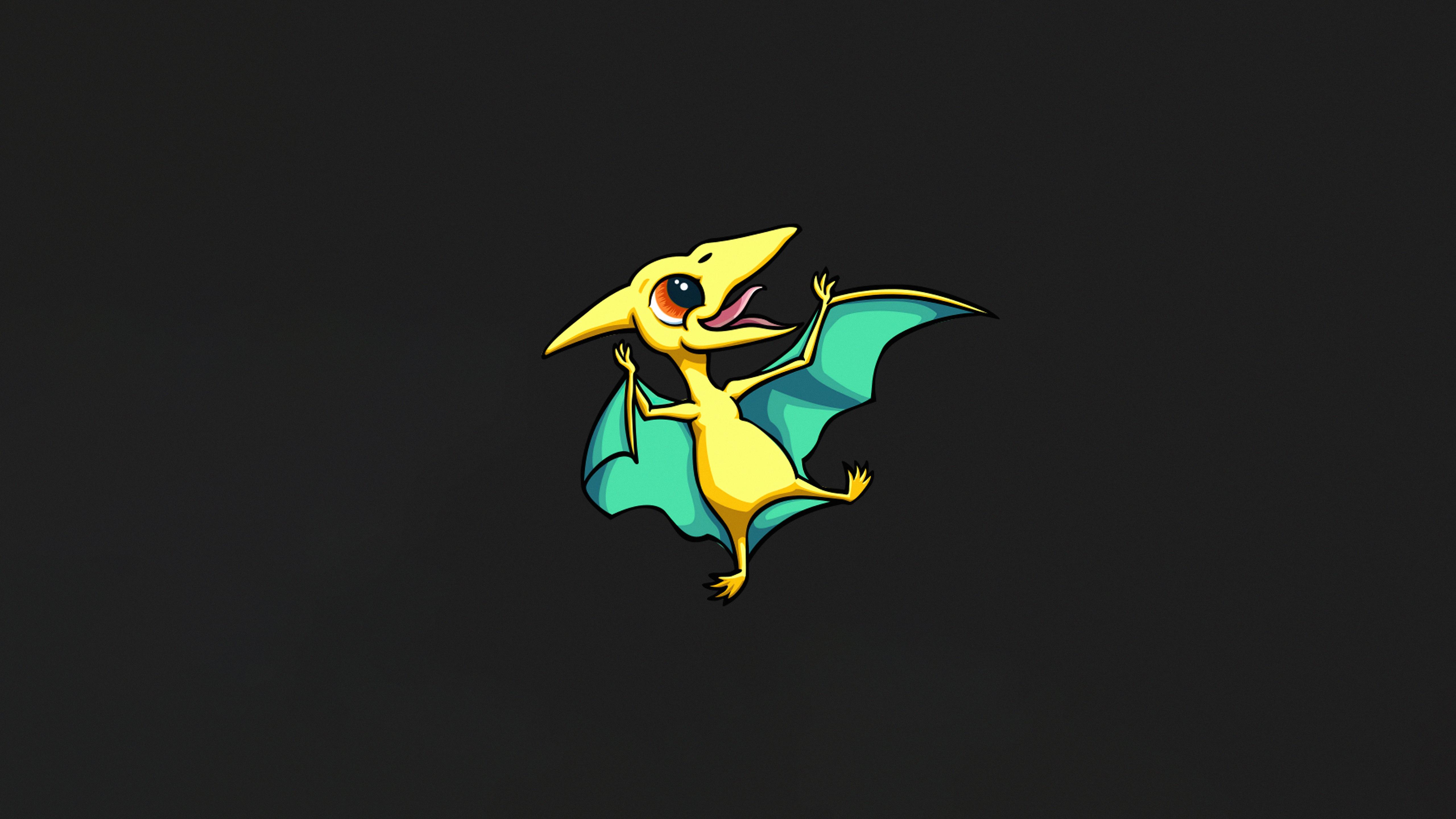 Fondos de pantalla Pequeño dragón Minimalista