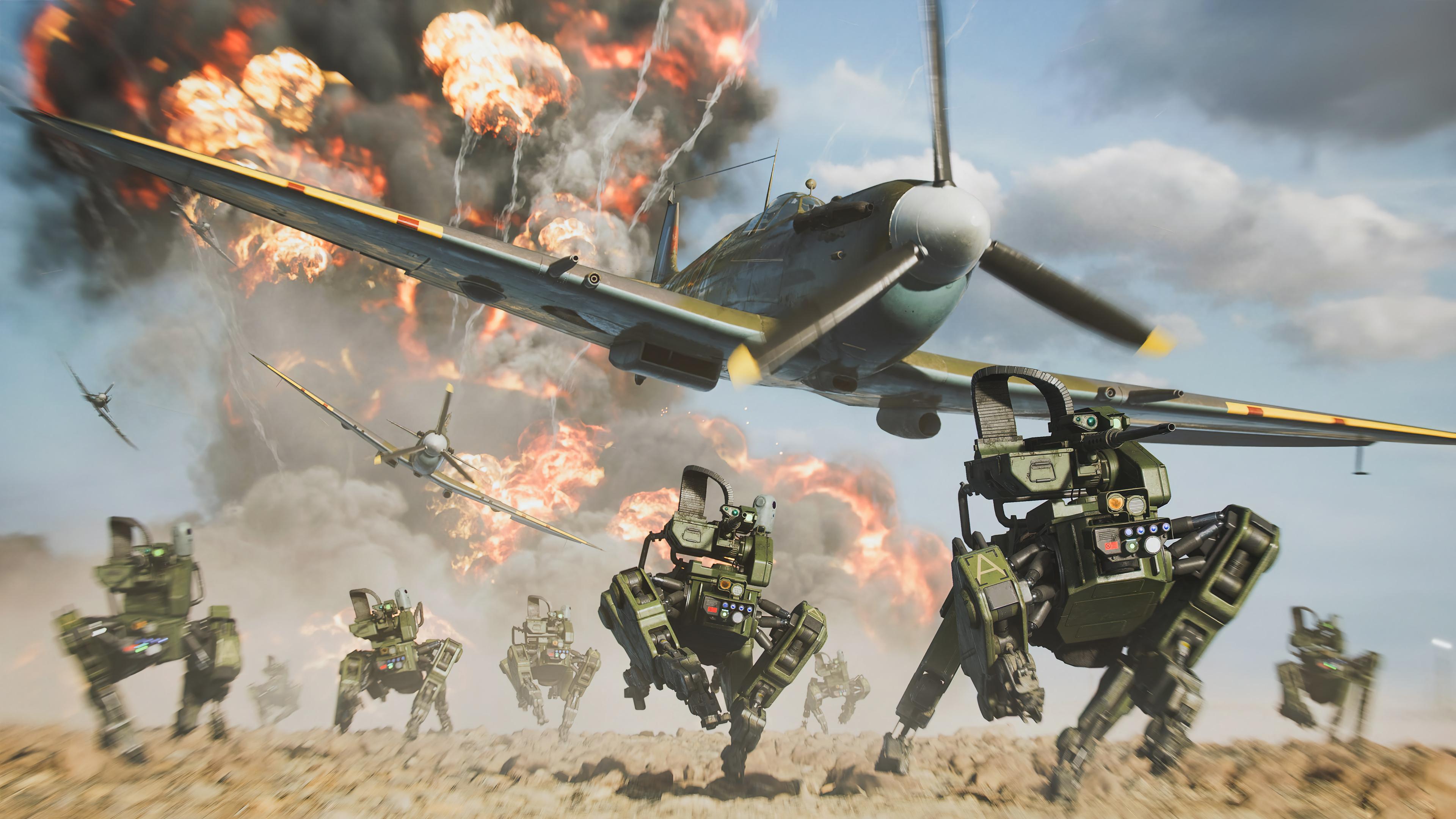 Wallpaper Robot Dog in Battlefield 2042