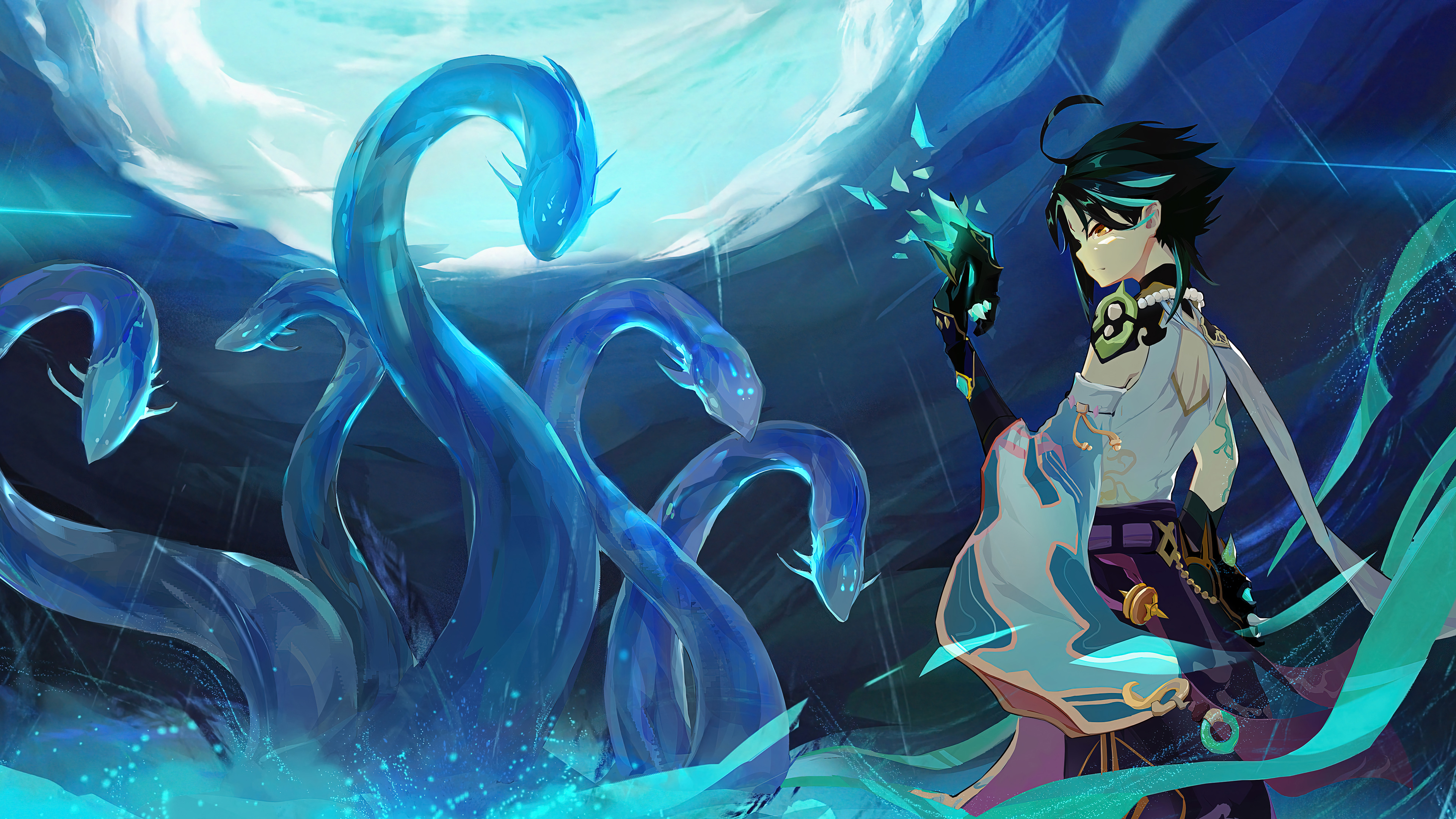 Fondos de pantalla Anime Personaje Xiao de Genshin Impact