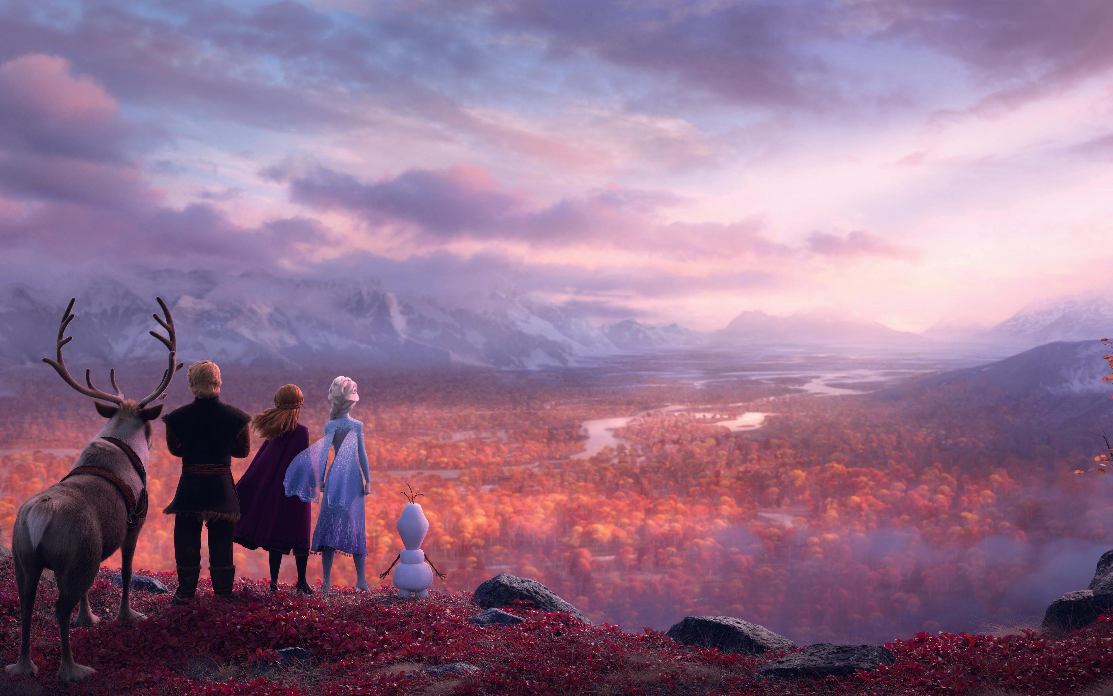 Wallpaper Frozen characters