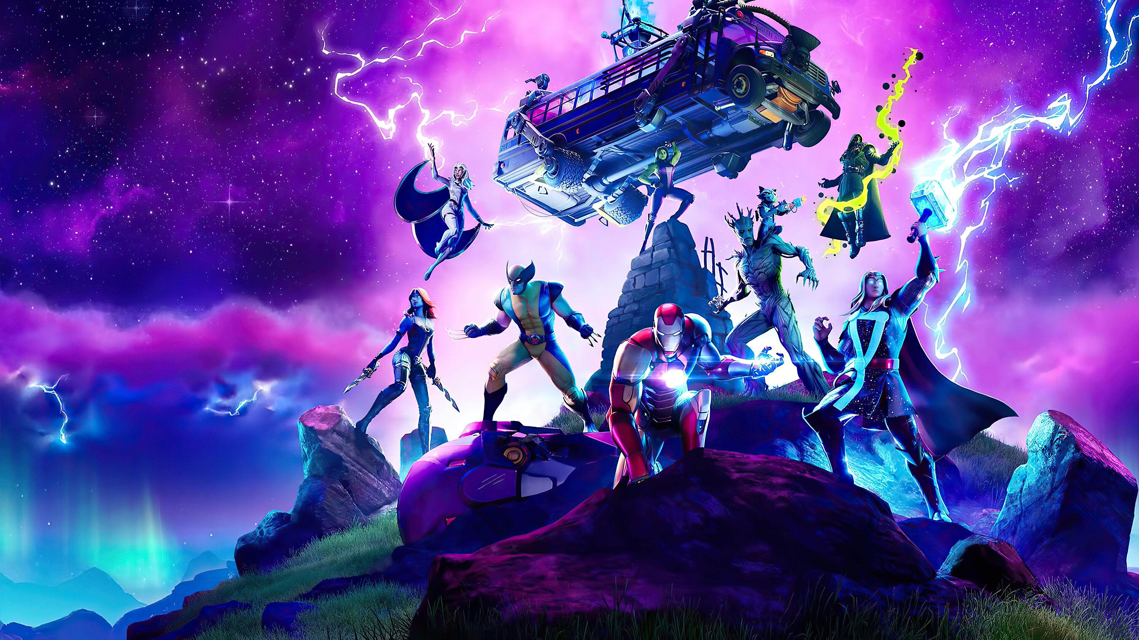 Wallpaper Marvel Charaters in Fortnite