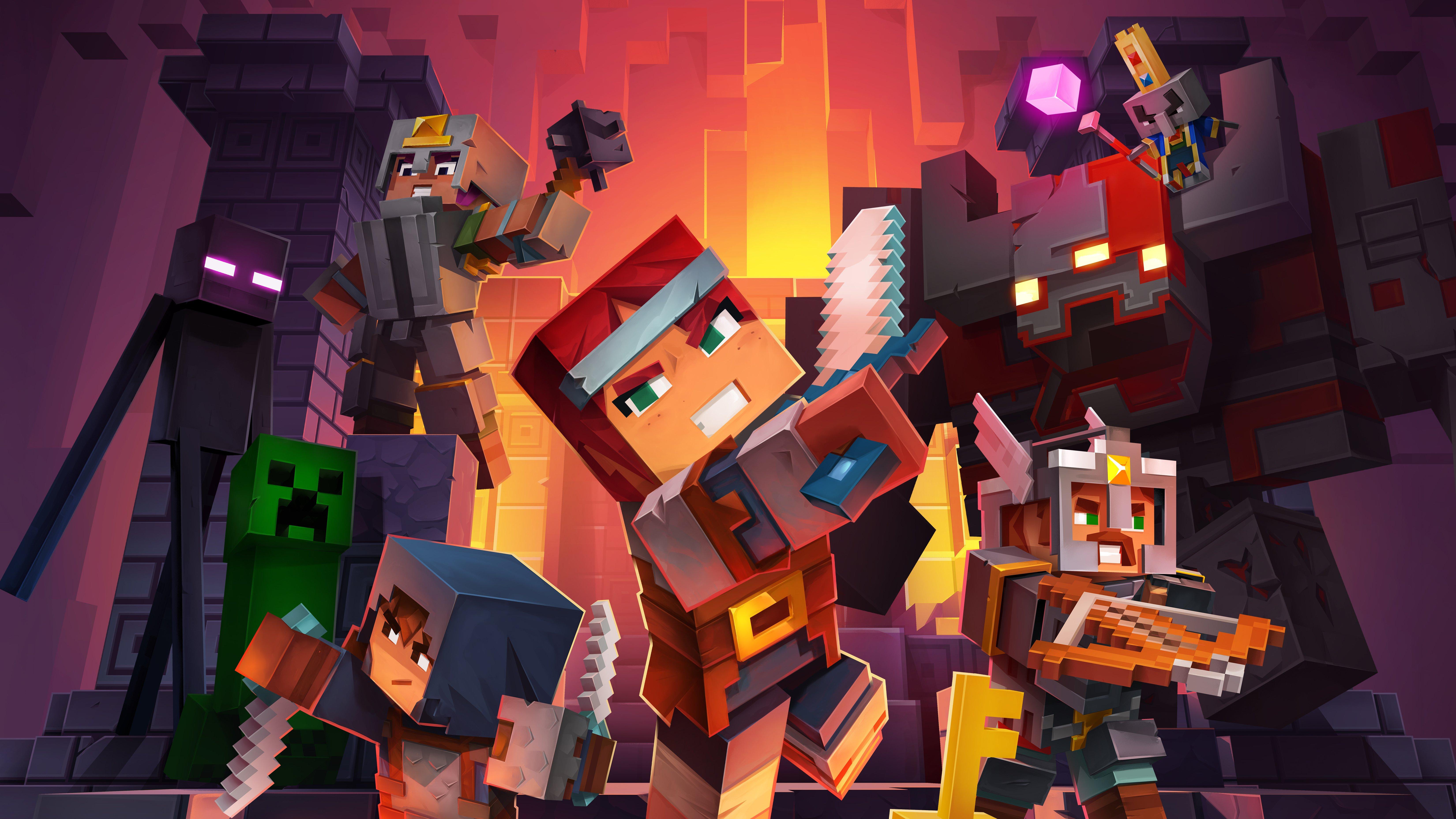 Fondos de pantalla Personajes de Minecraft Dungeons