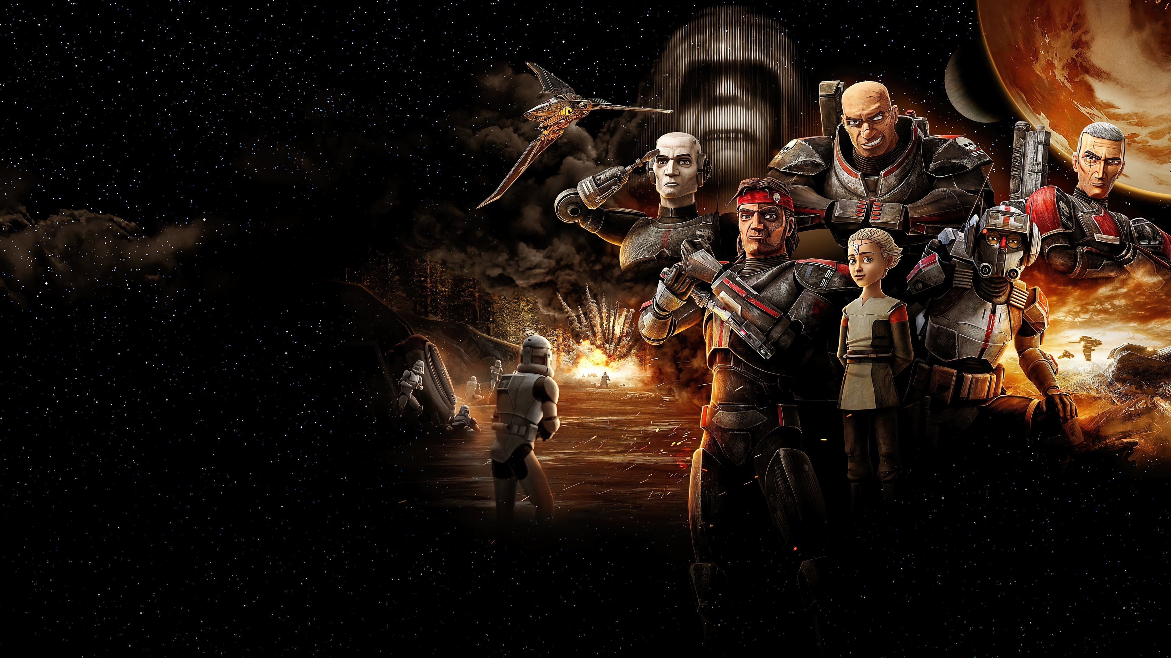 Wallpaper Star Wars The Bad Batch Characters
