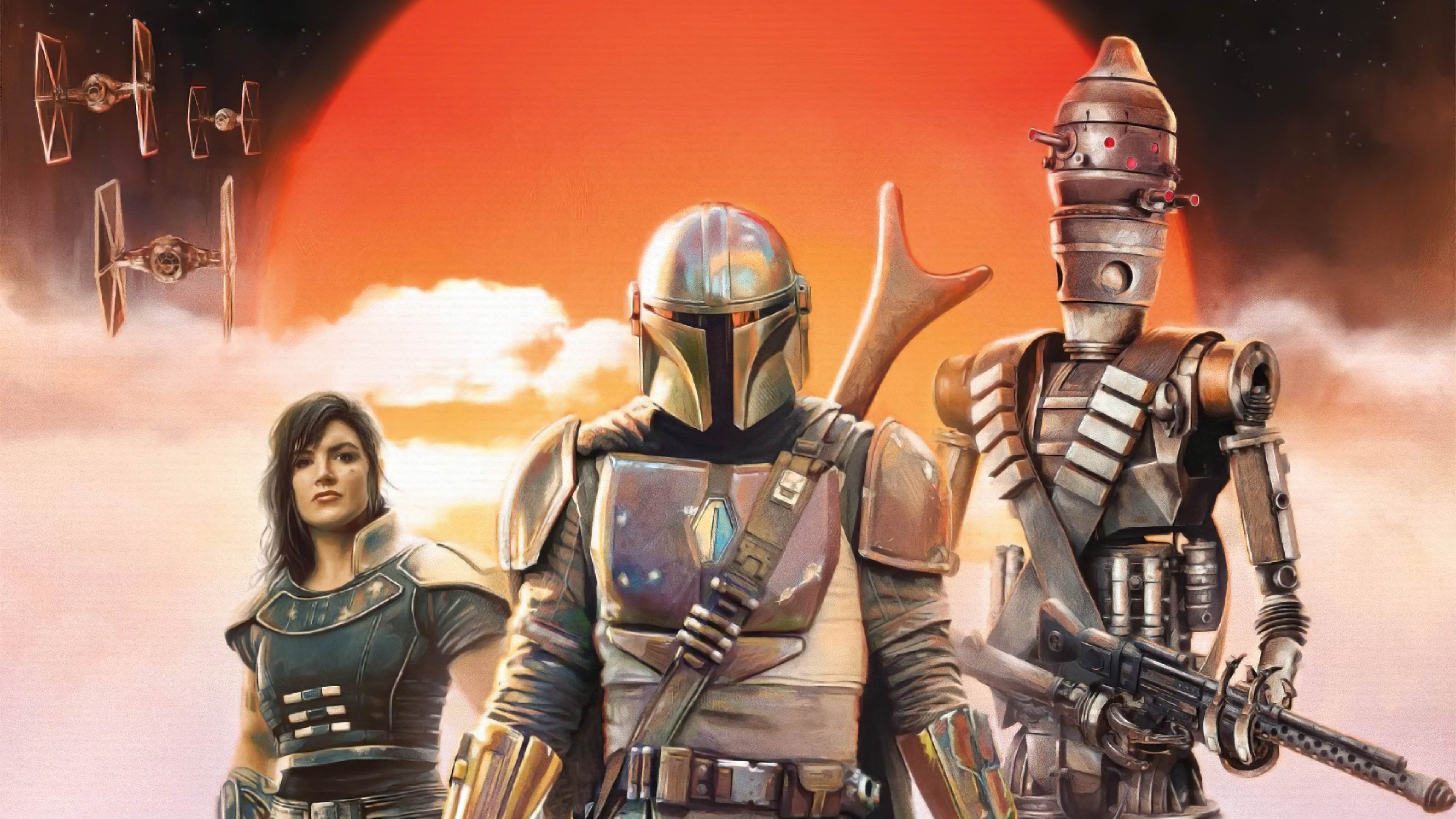 Wallpaper Characters from Mandalorian