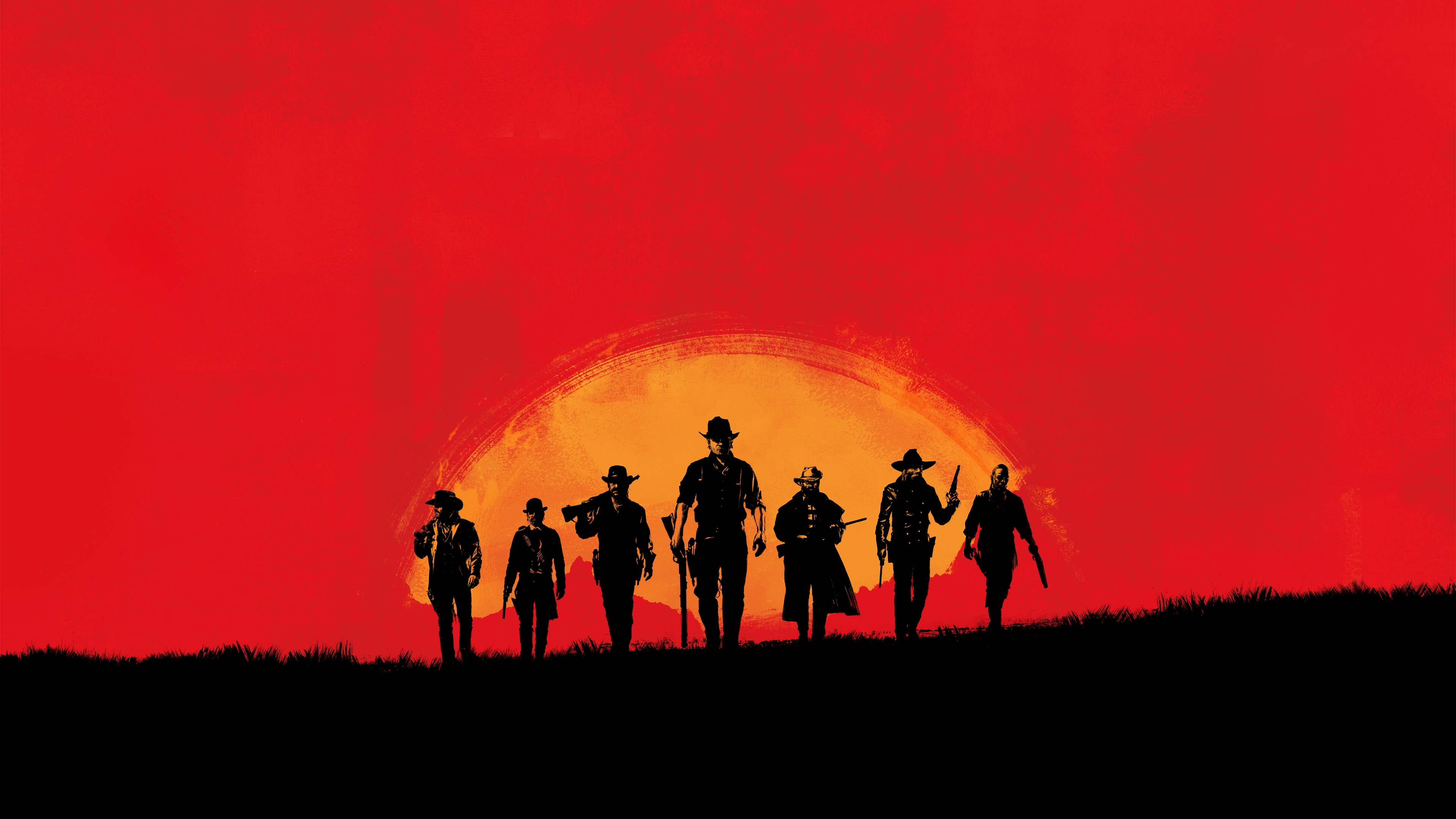 Wallpaper Characters Red Dead Redemption 2