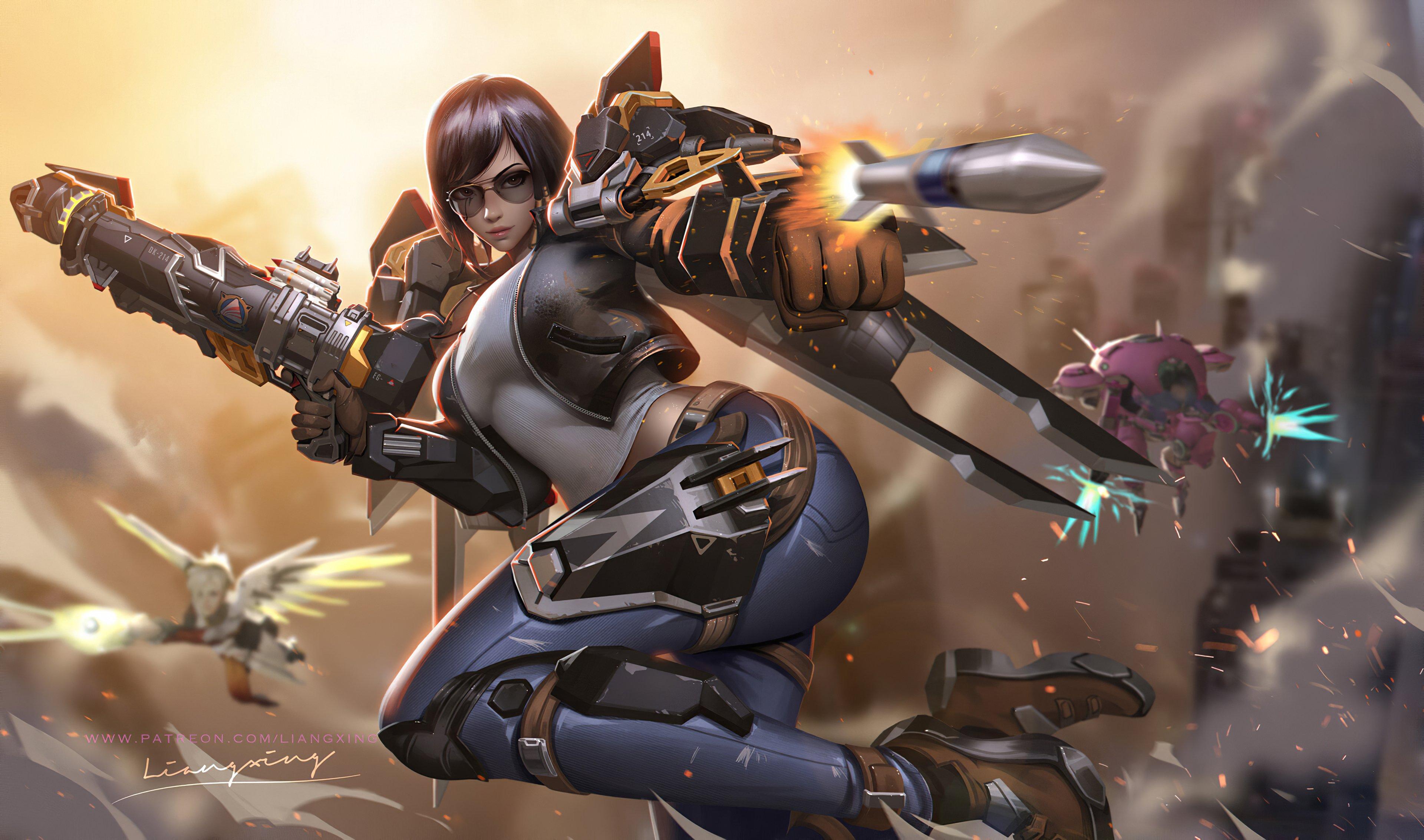 Fondos de pantalla Pharah personaje de Overwatch