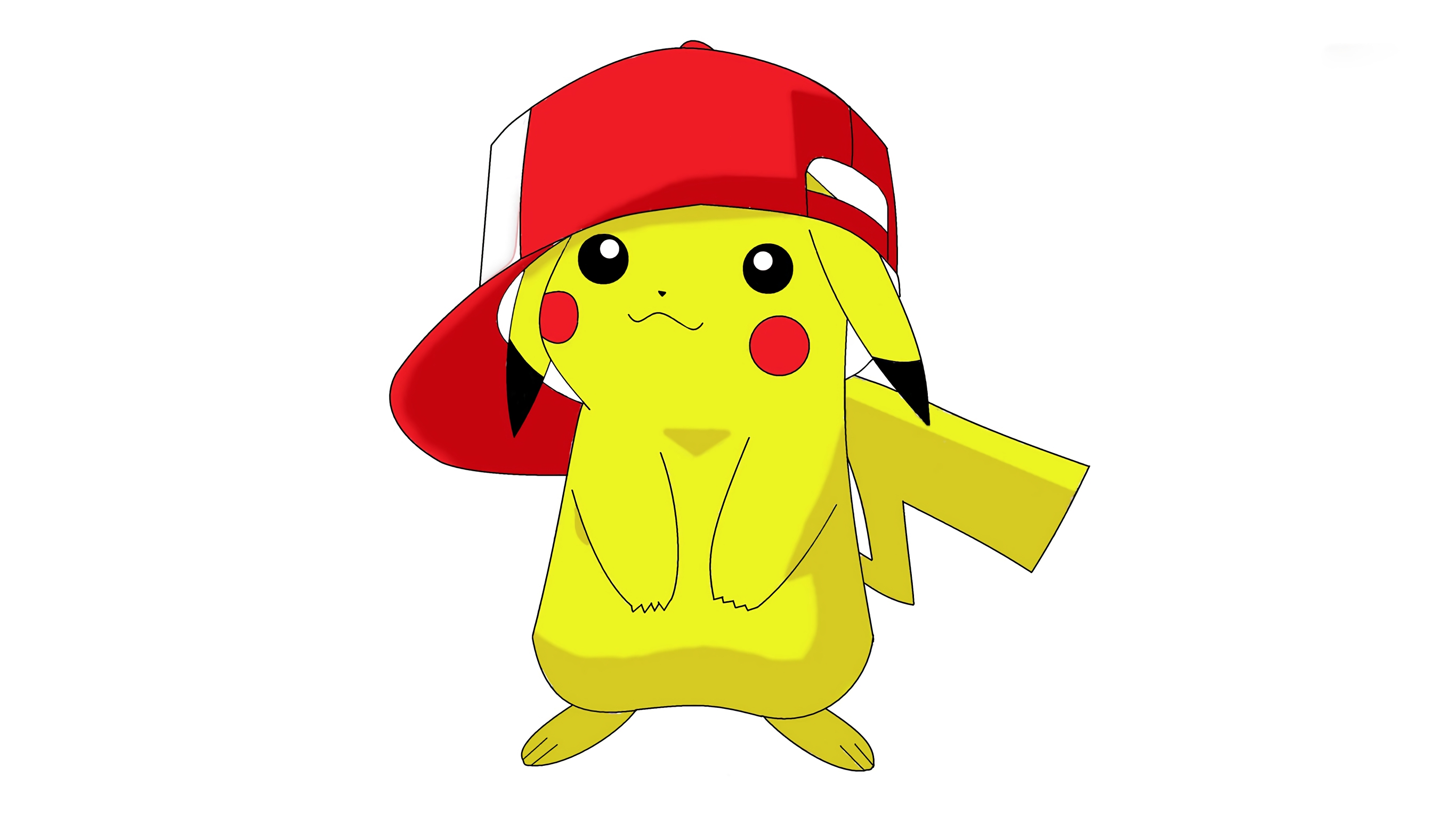 Anime Wallpaper Pikachu with cap