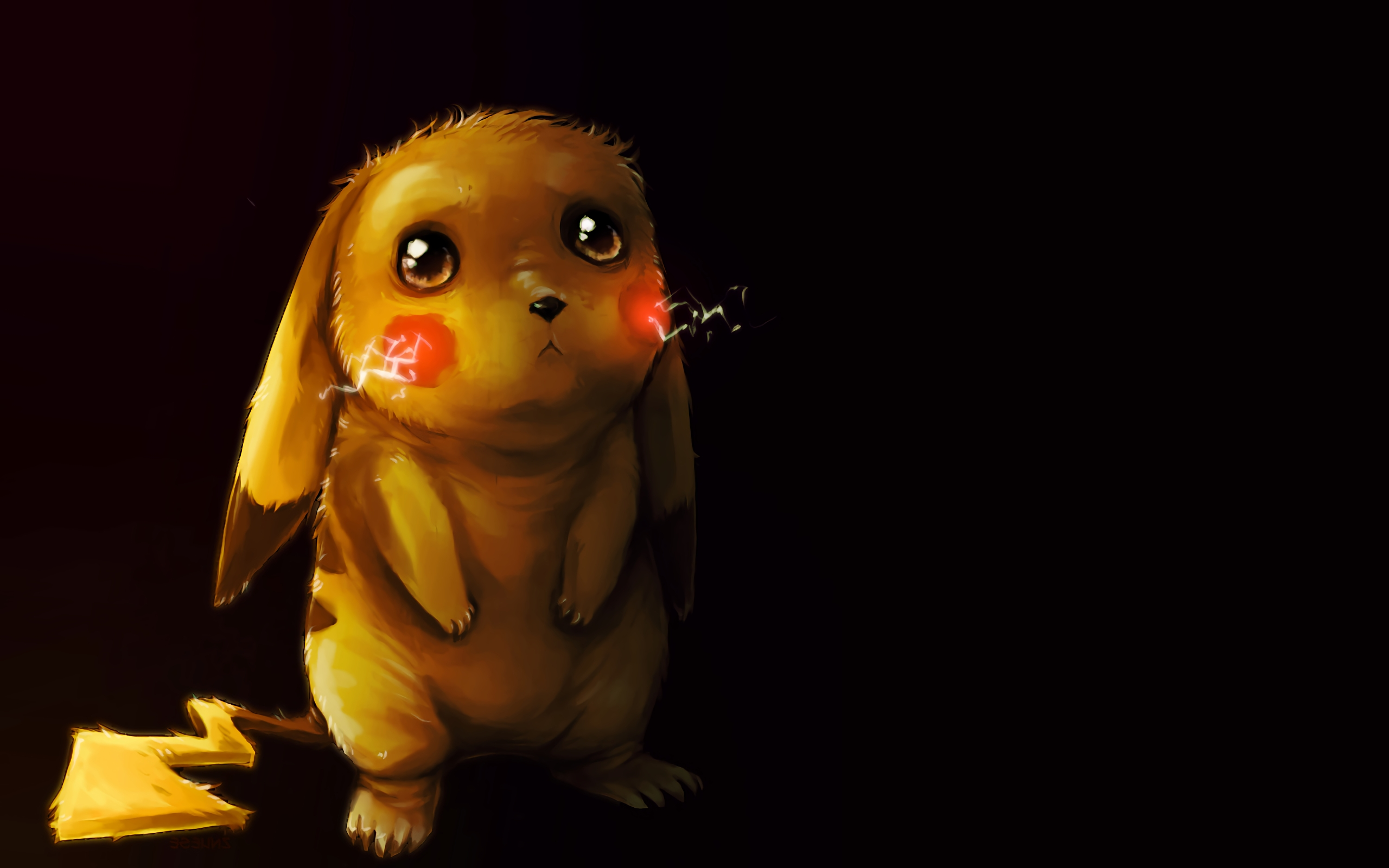 Anime Wallpaper Sad Pikachu fanart