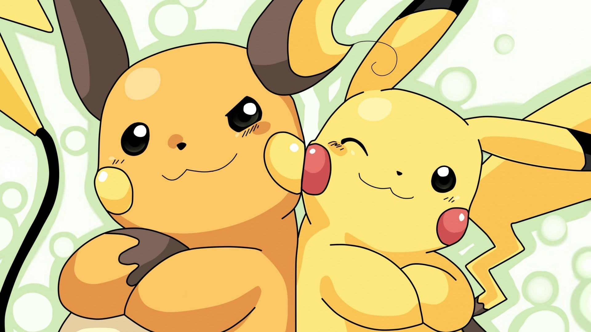 Fondos de pantalla Pikachu y Raichu