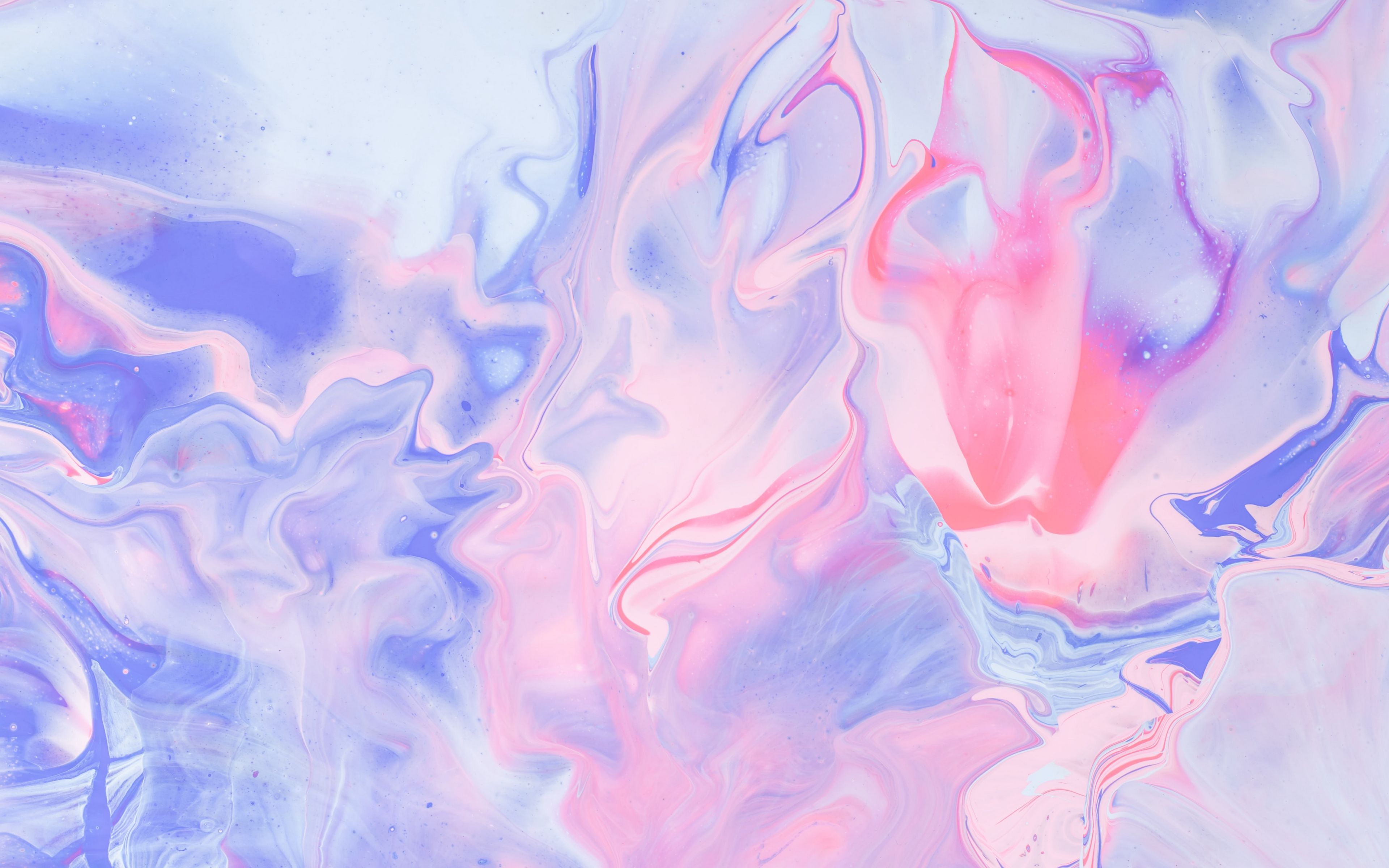 Wallpaper Liquid paint pink and purple