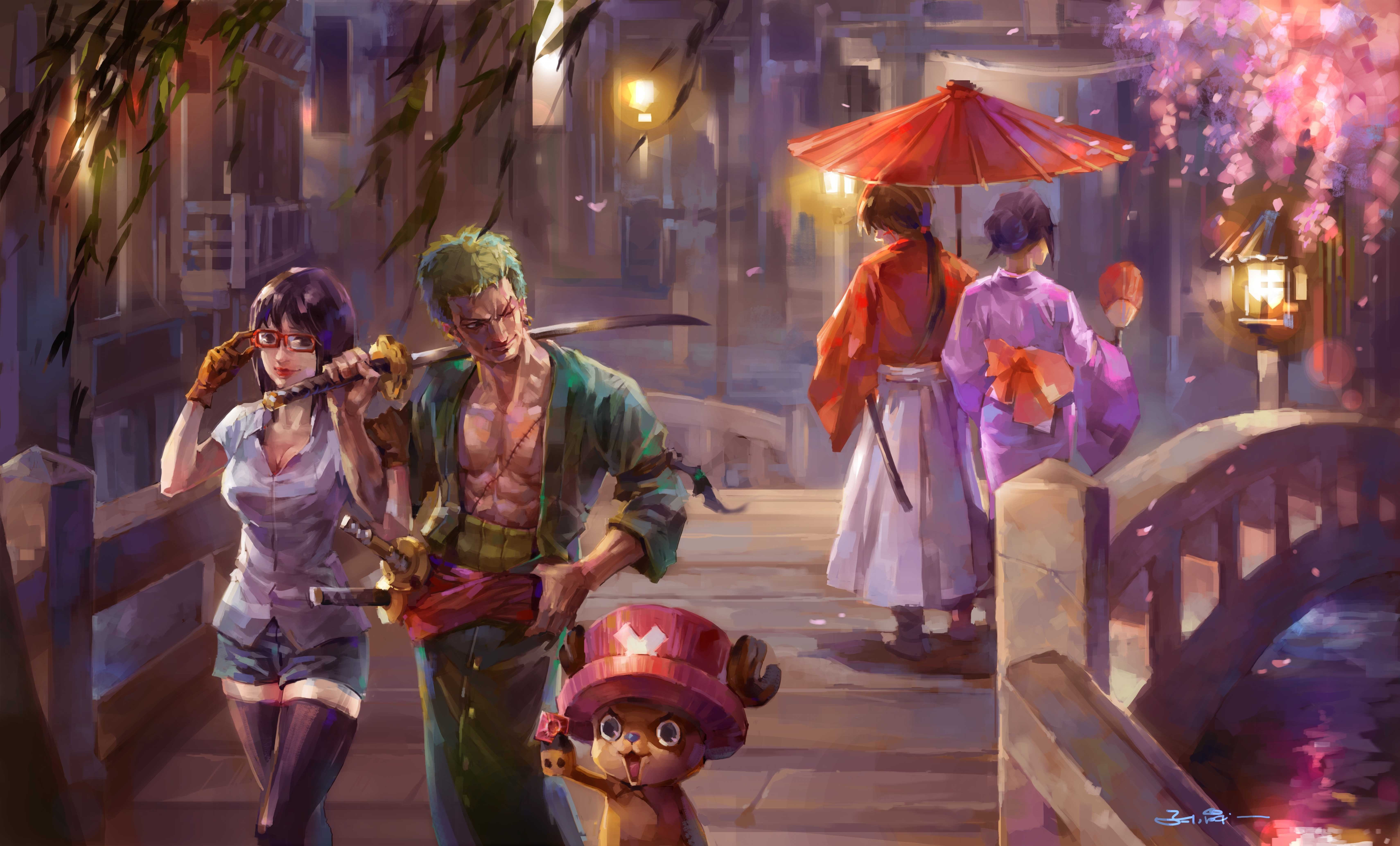 Anime Wallpaper One Piece Painting