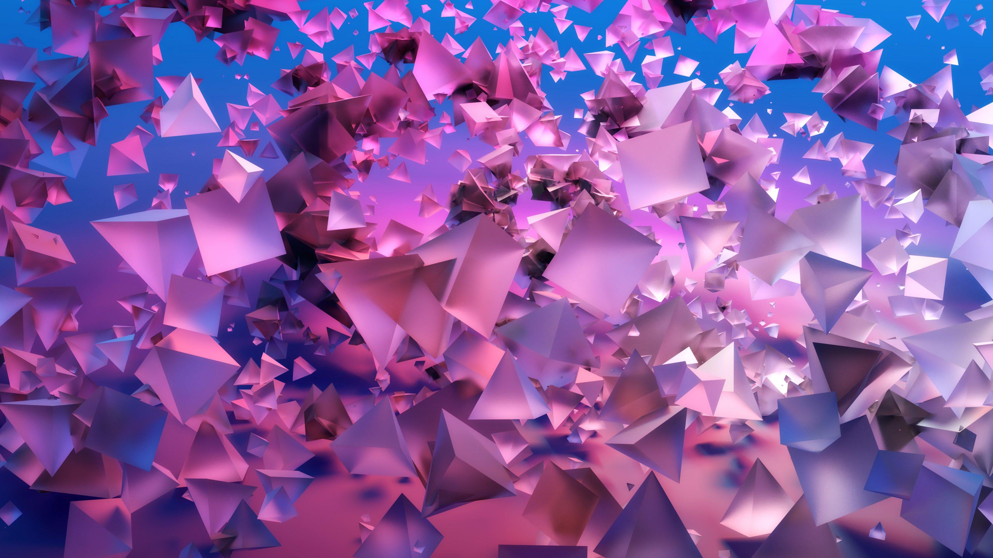 Fondos de pantalla Piramides 3d abstractas