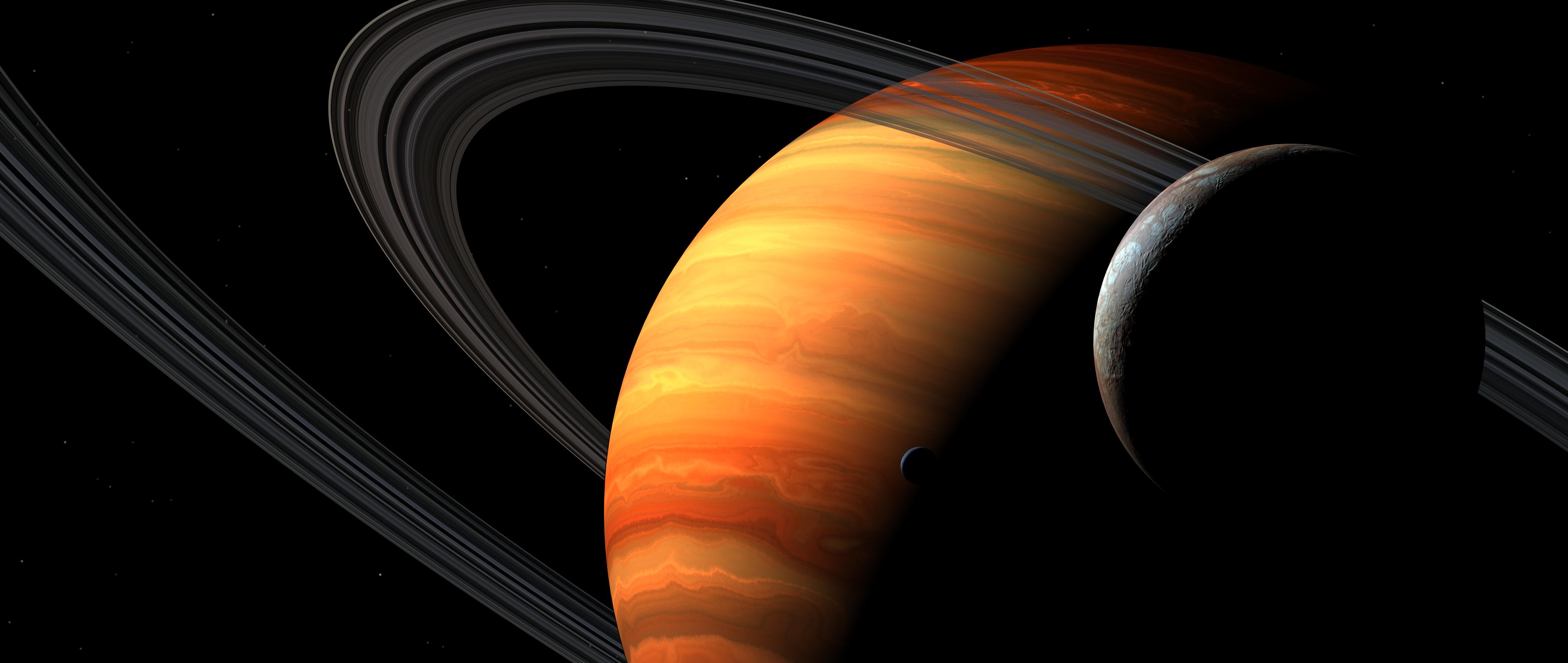 Fondos de pantalla Planeta con anillo
