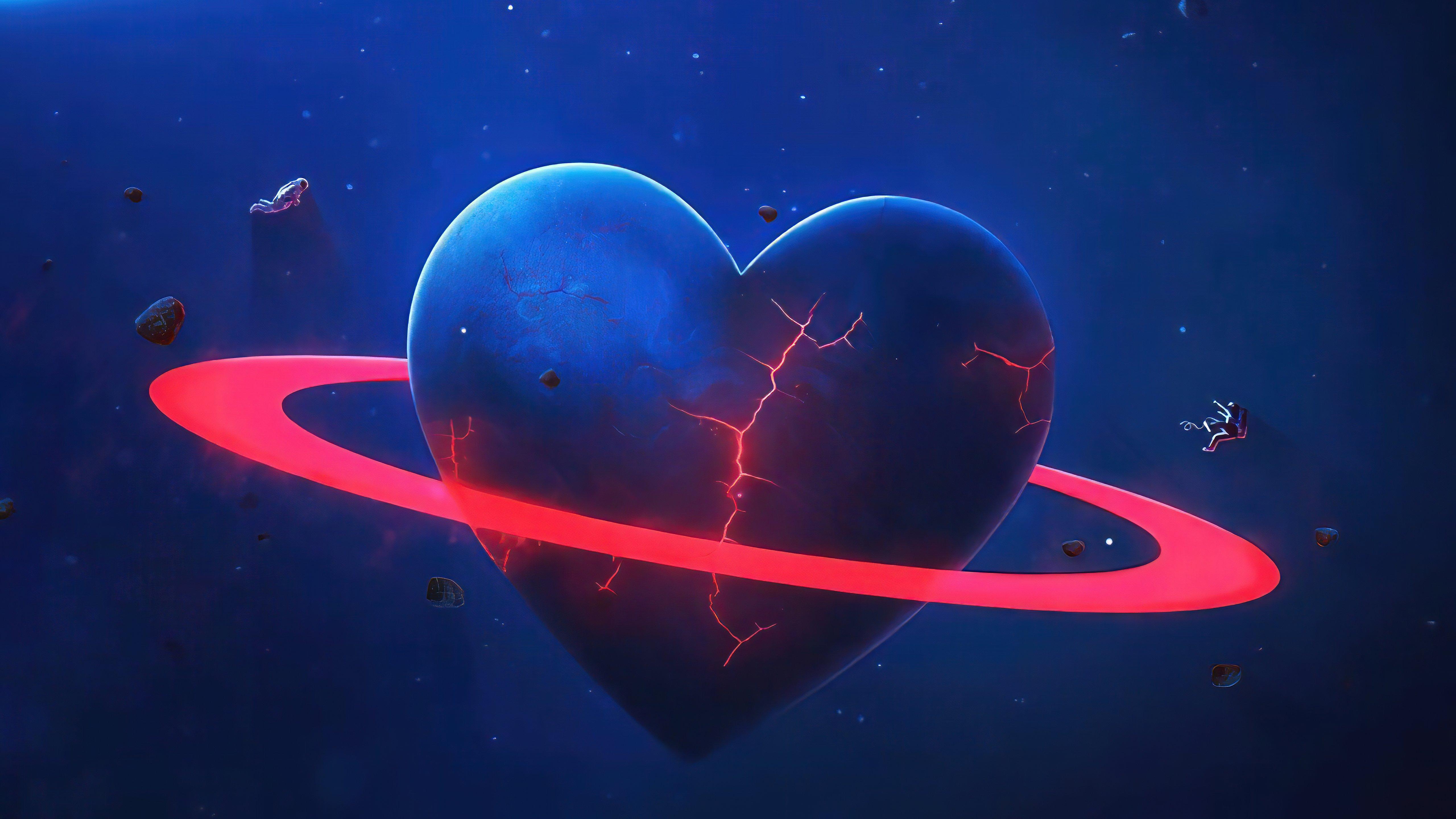 Wallpaper Heart-shaped planet
