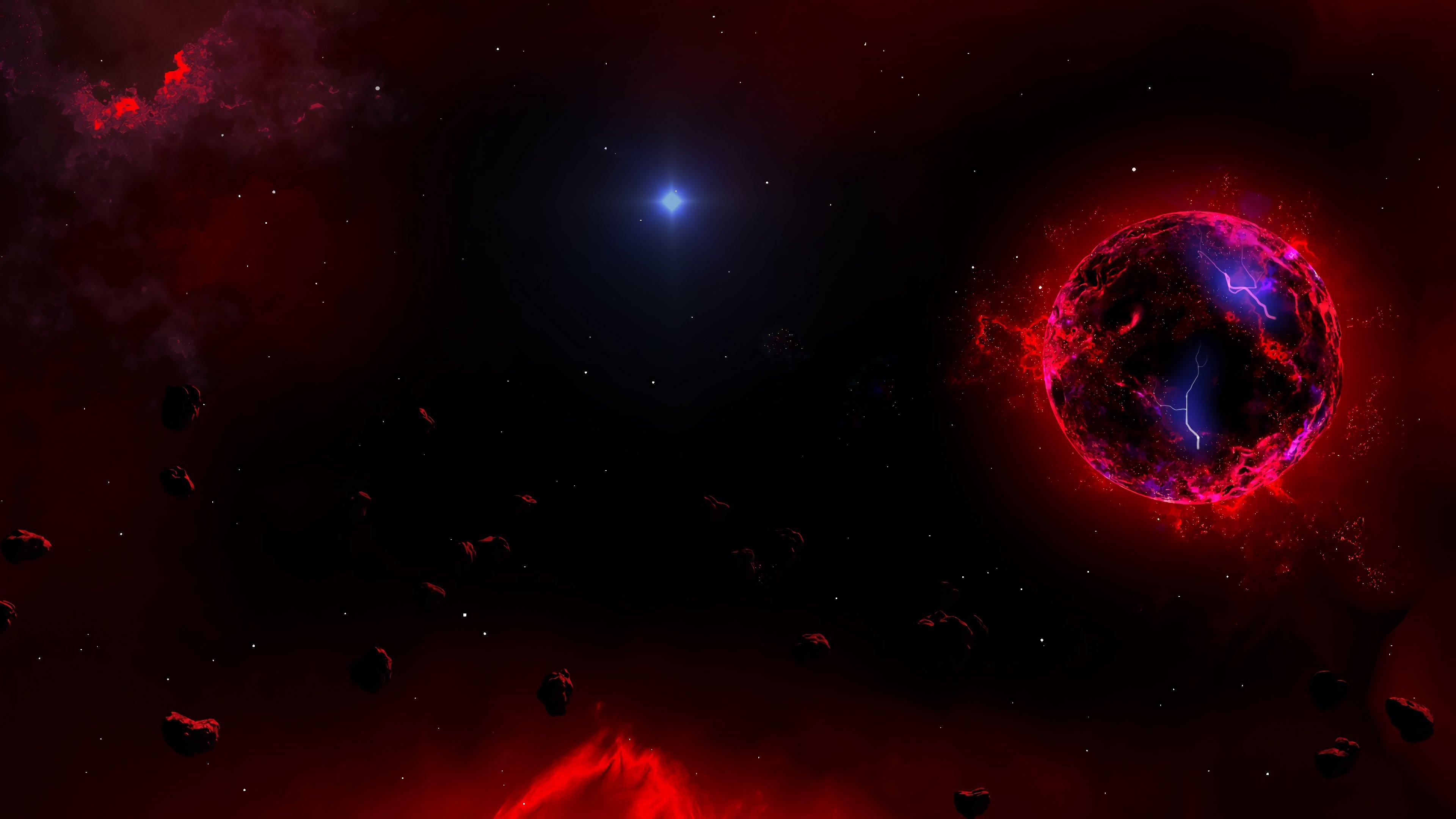 Fondos de pantalla Planeta en fuego