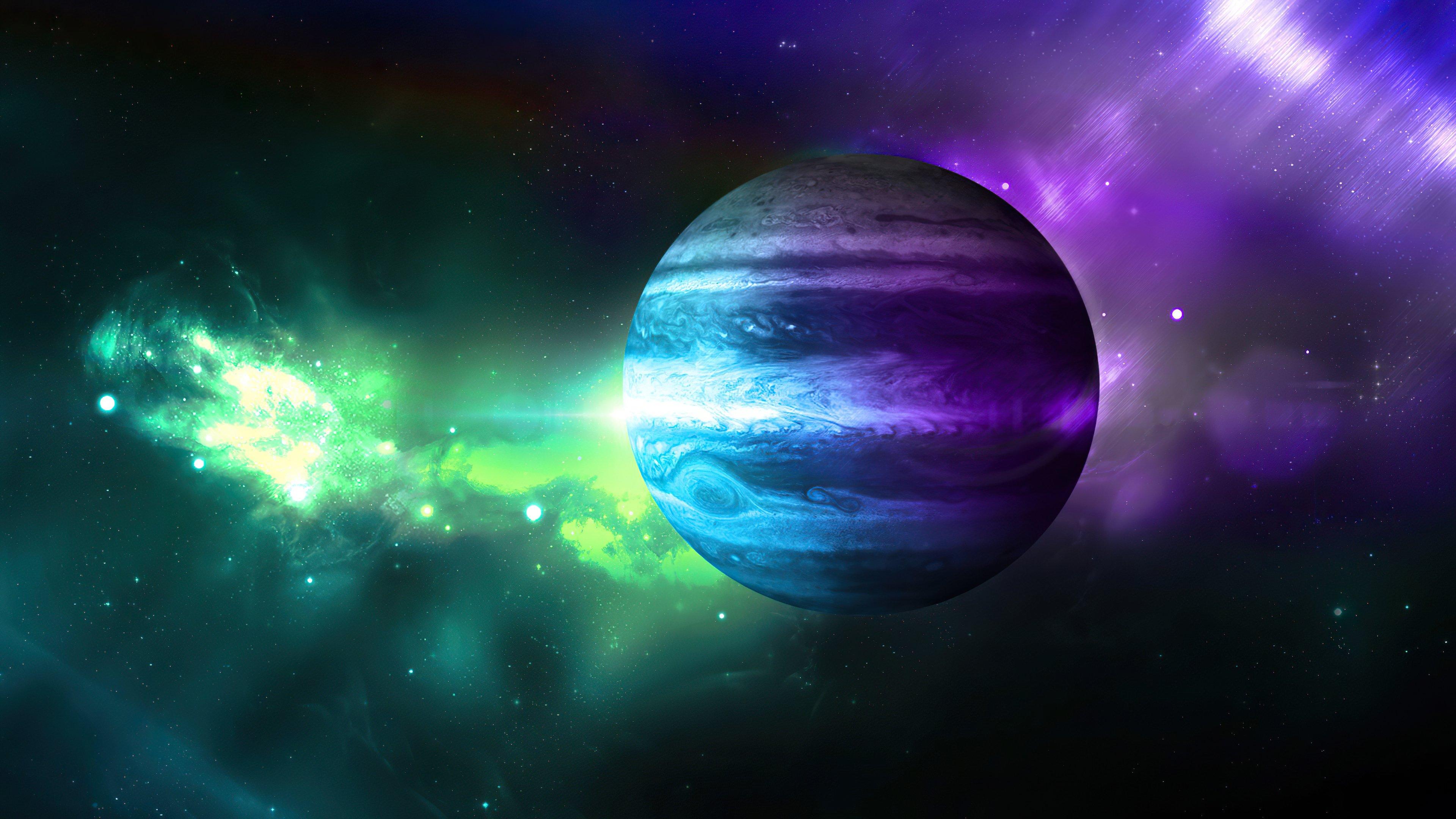Wallpaper Planet in galaxy