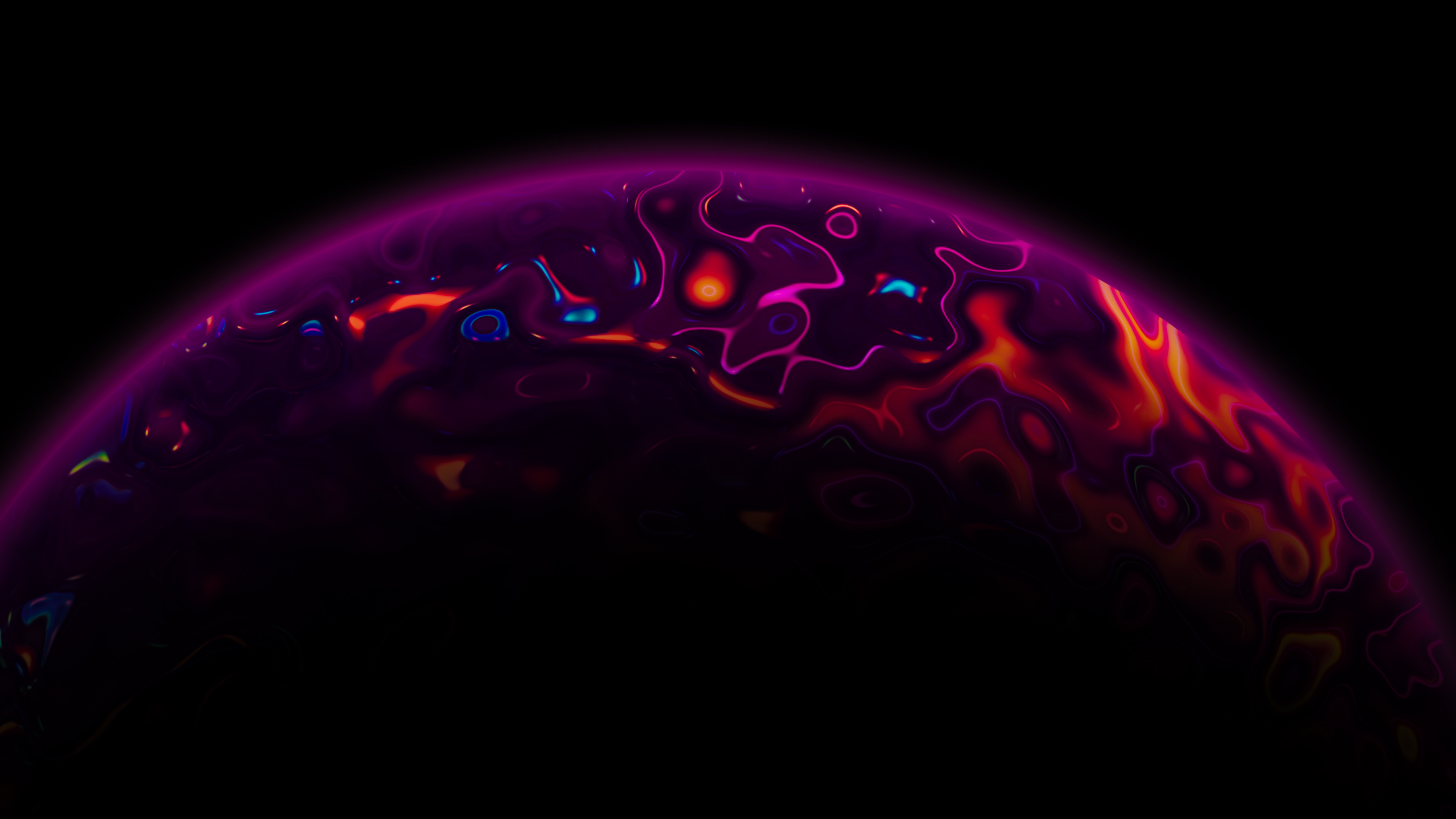Wallpaper Lava Planet abstract