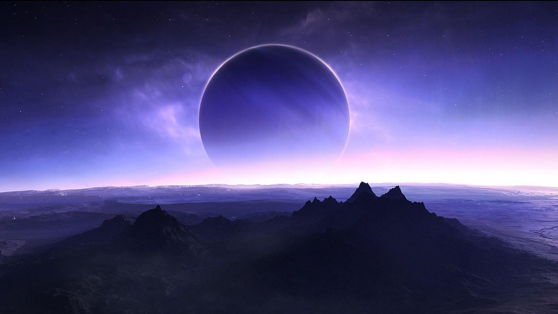Fondos de pantalla Planeta montañas desde el cielo