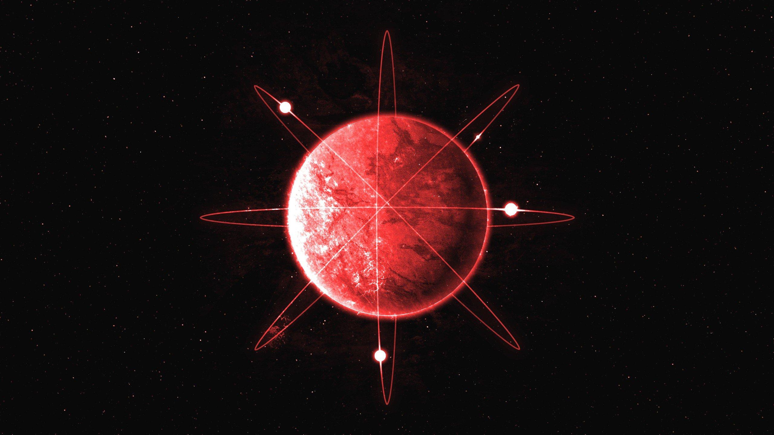 Fondos de pantalla Planeta rojo como atomo