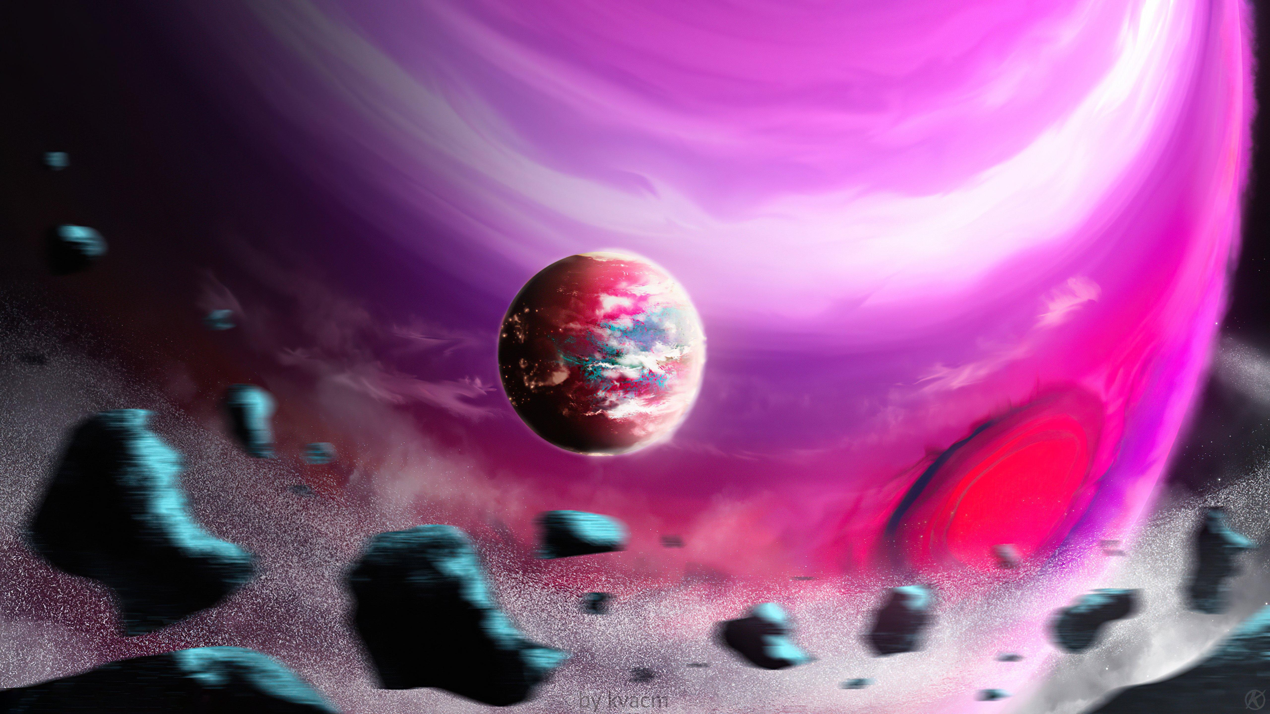 Fondos de pantalla Planeta rosa