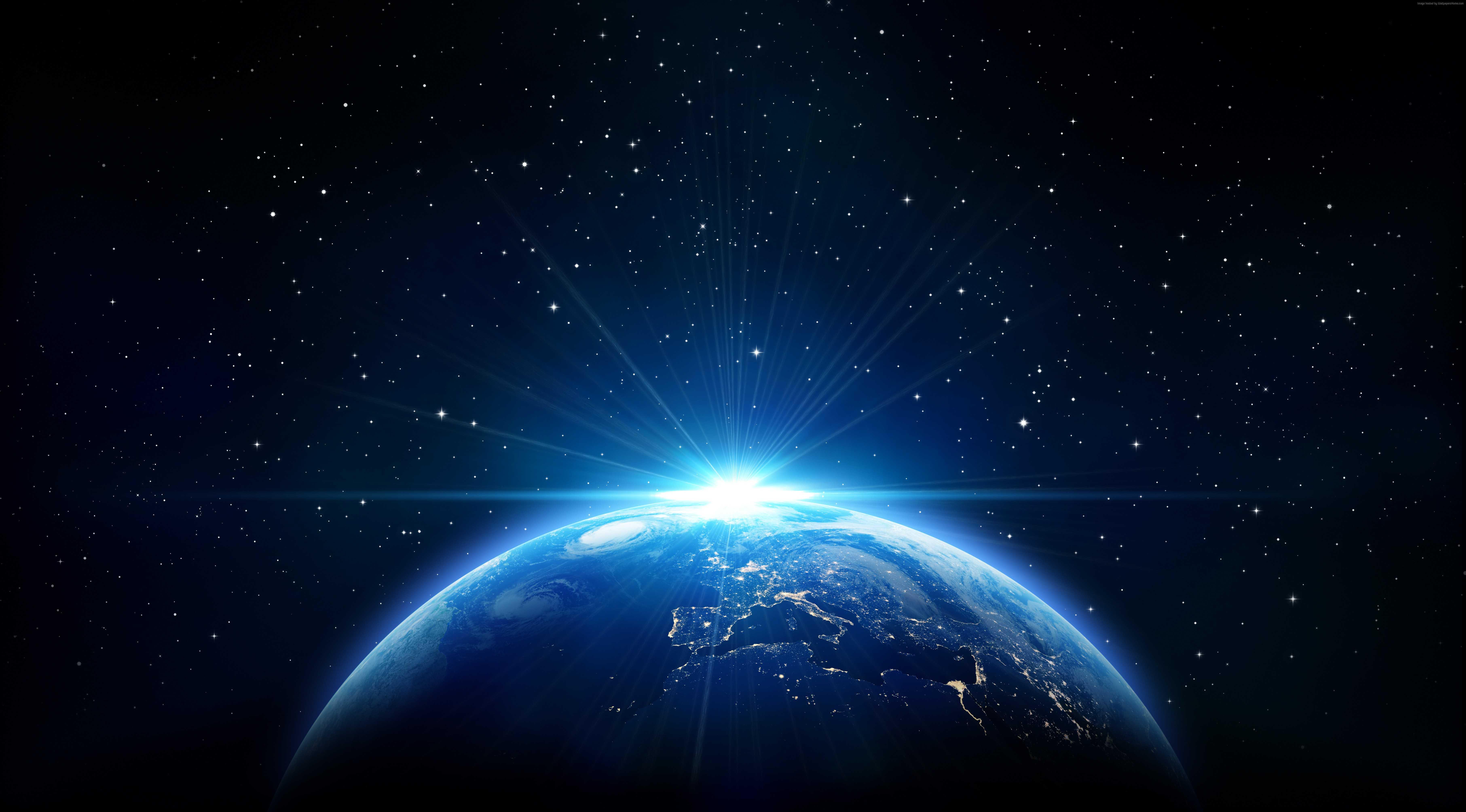 Fondos de pantalla Planeta tierra con destello de luz