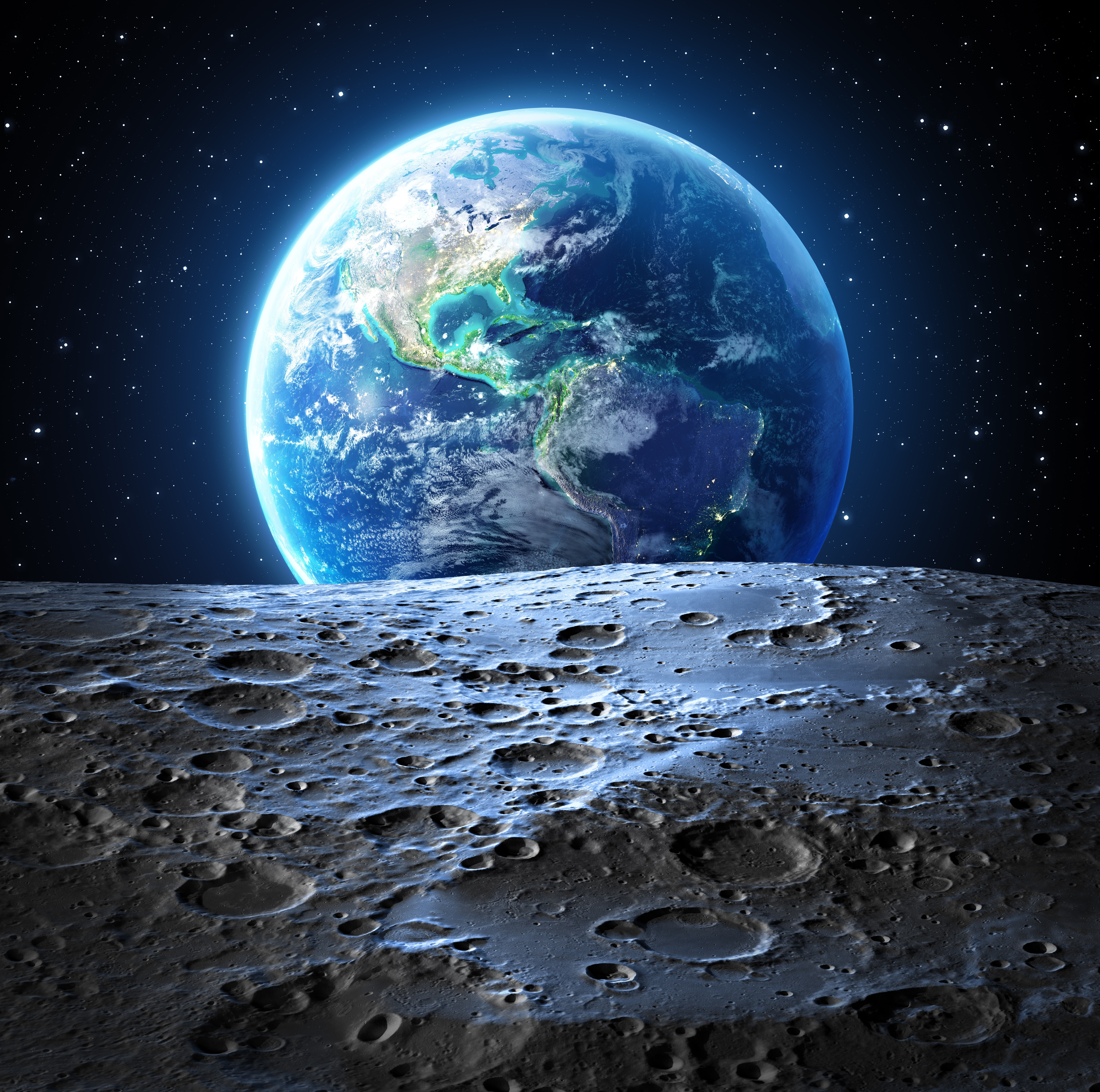 Wallpaper Planet Earth seen from the Moon