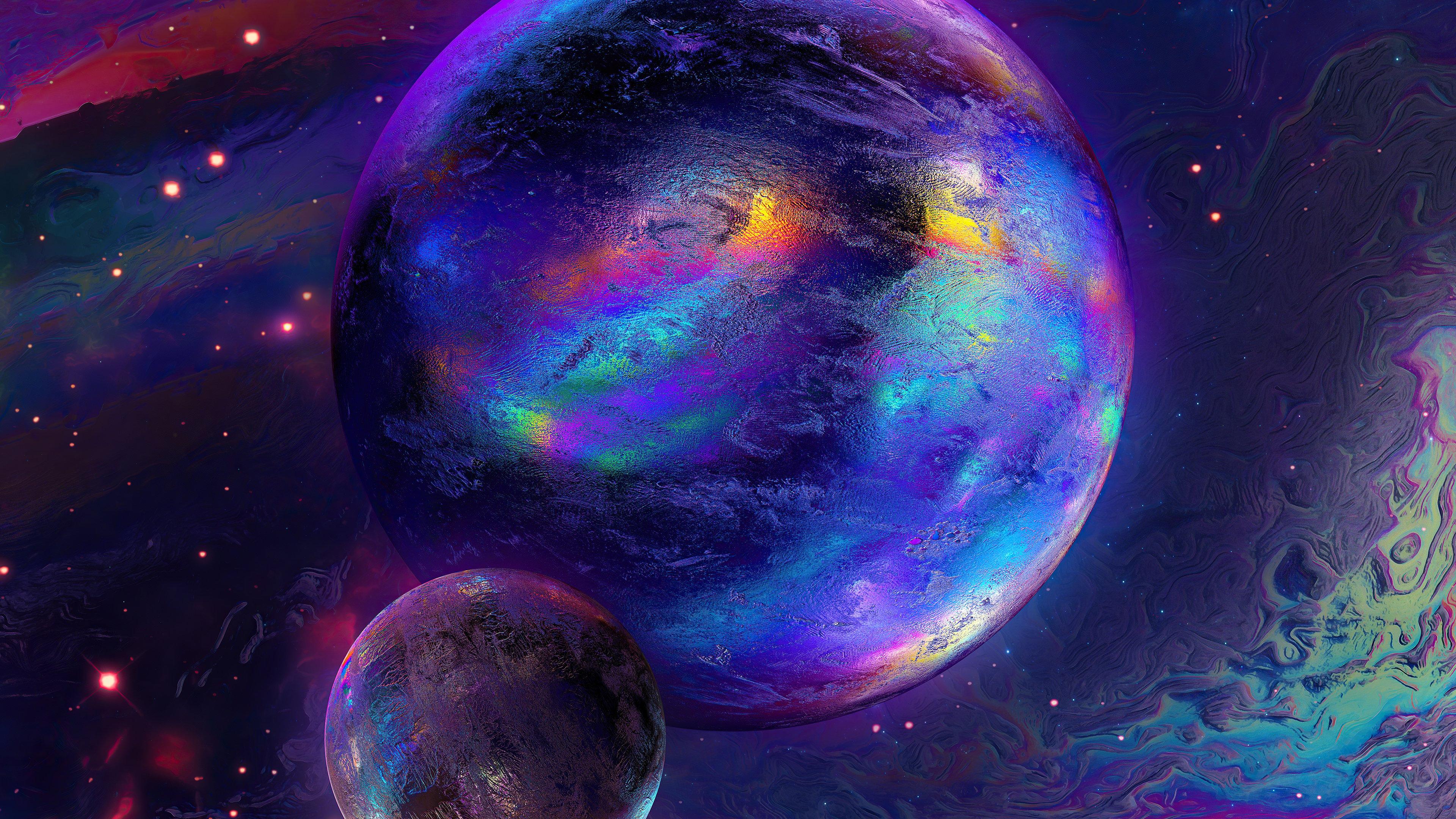 Fondos de pantalla Planetas de colores