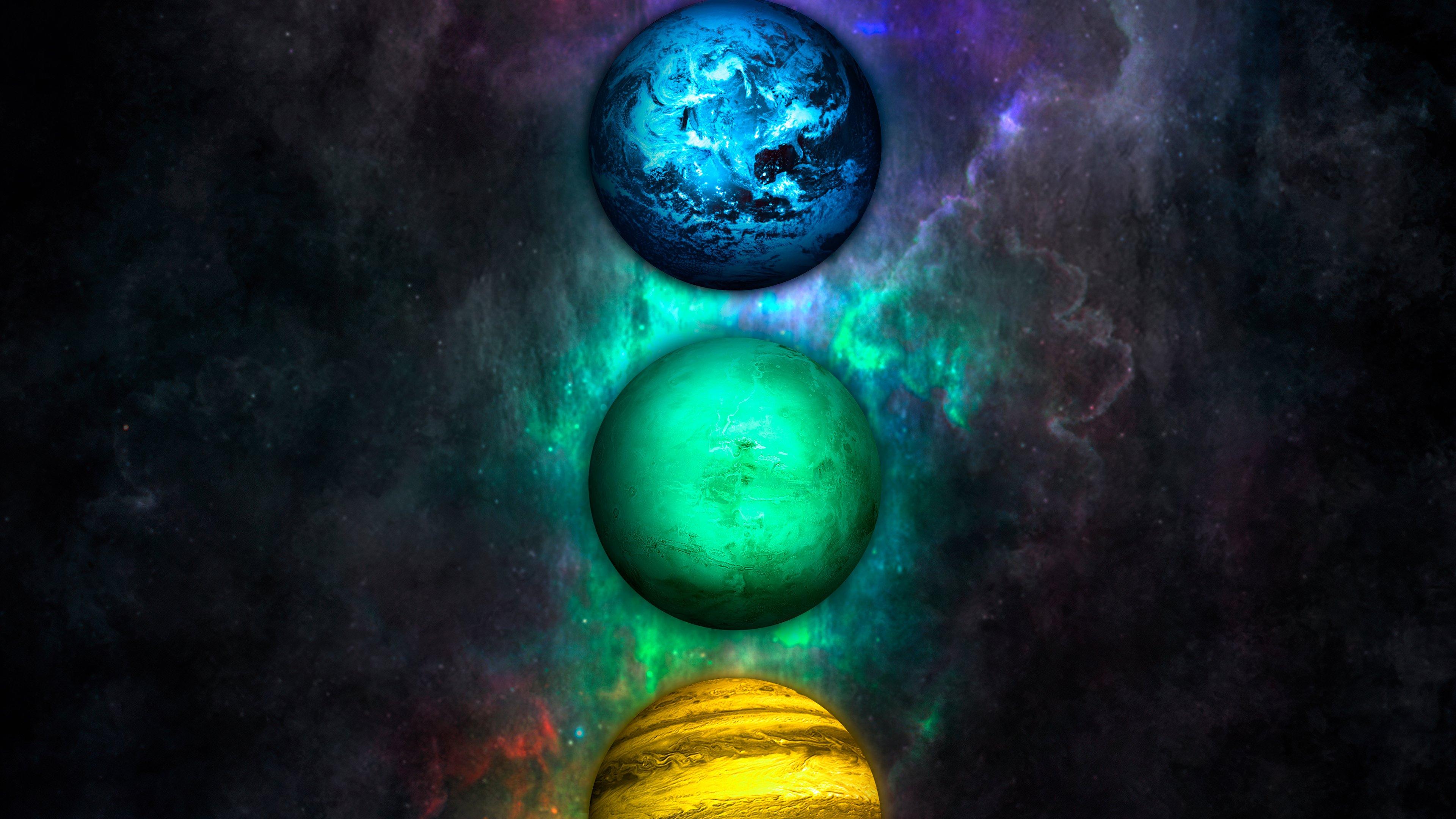 Fondos de pantalla Planetas de diferentes colores