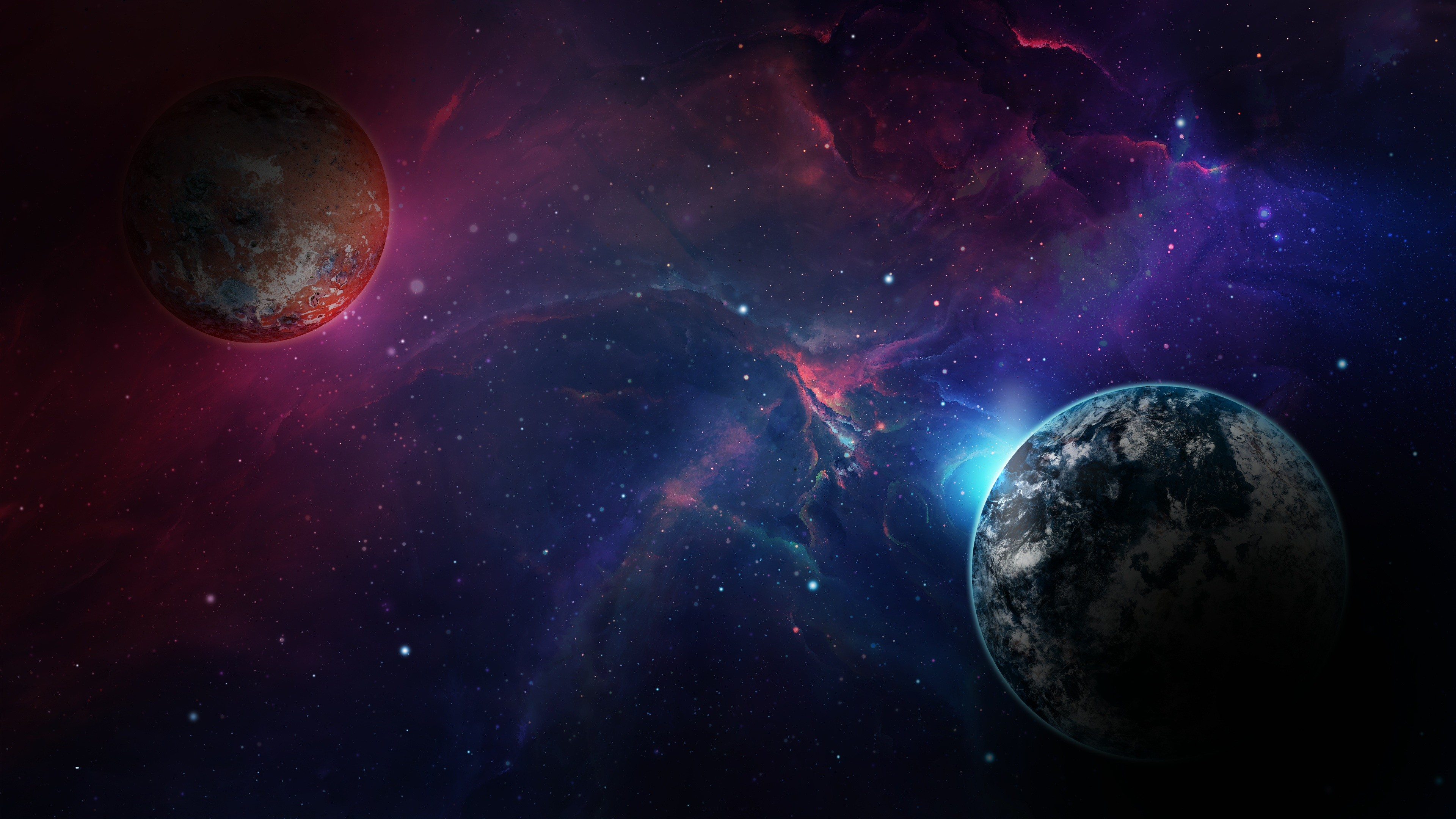 Planets In Space Wallpaper 4k Ultra Hd Id 3897