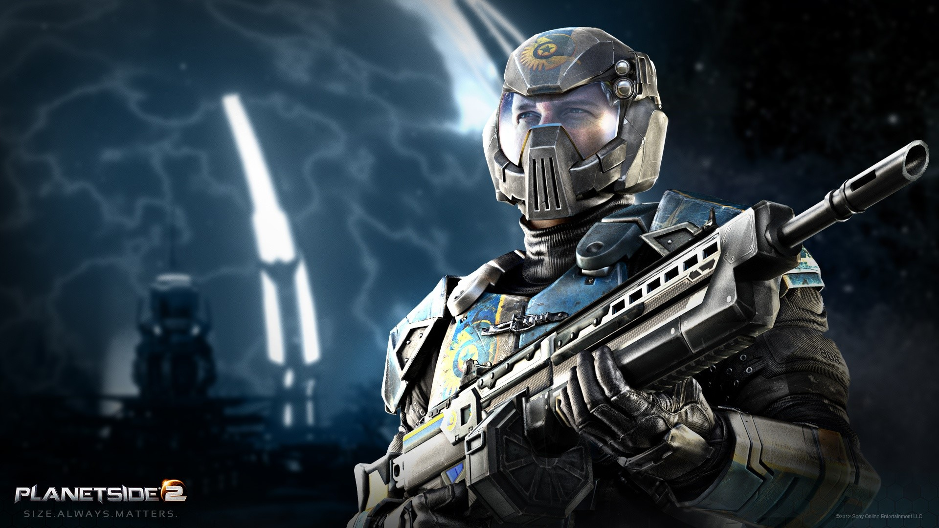 Wallpaper Planetside 2 Light assault