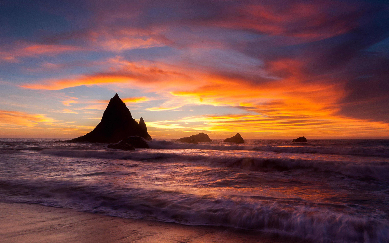 Wallpaper Beach at sunset