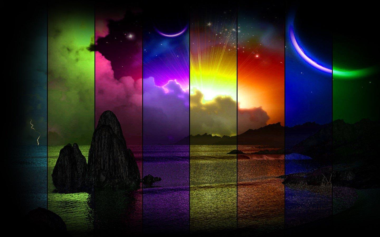 Fondo de pantalla de Playa al atardecer con colores Imágenes