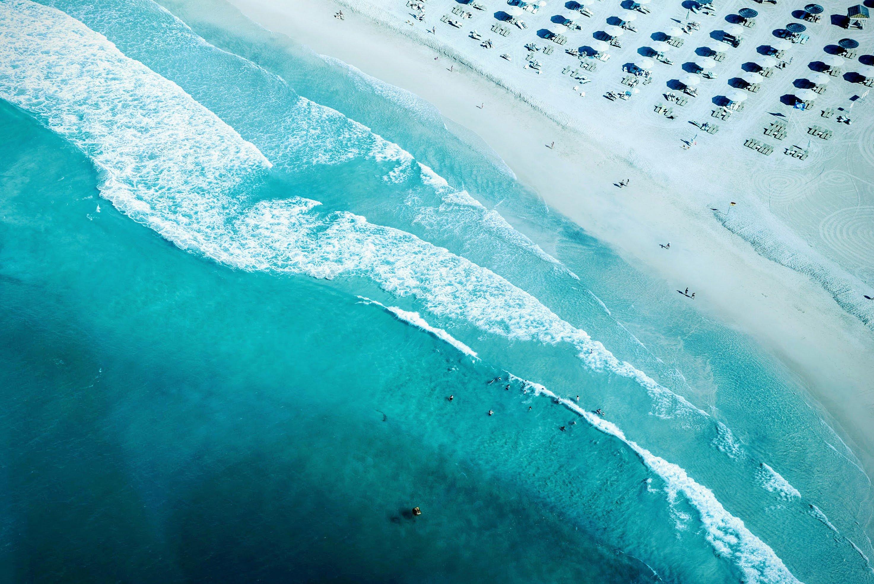 Fondos de pantalla Playa costa vista aérea
