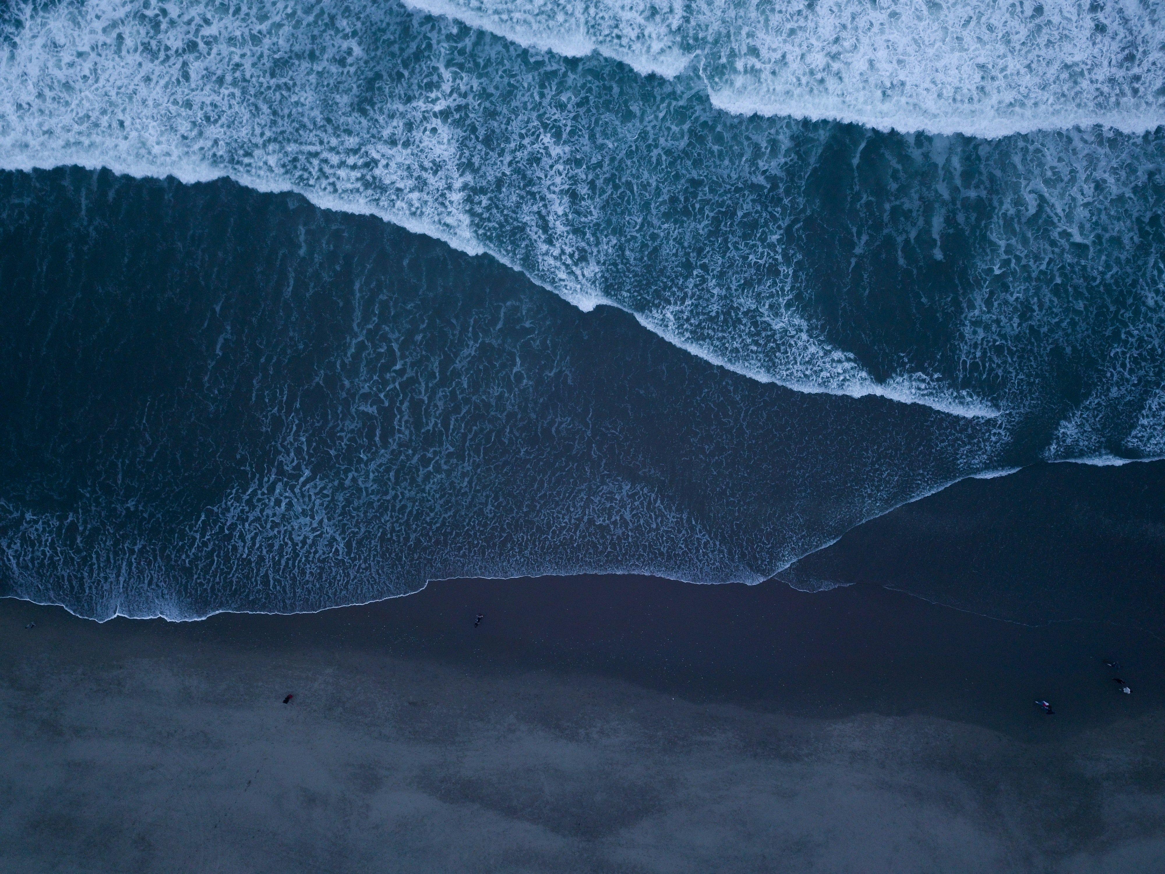 Wallpaper Beach at night top view