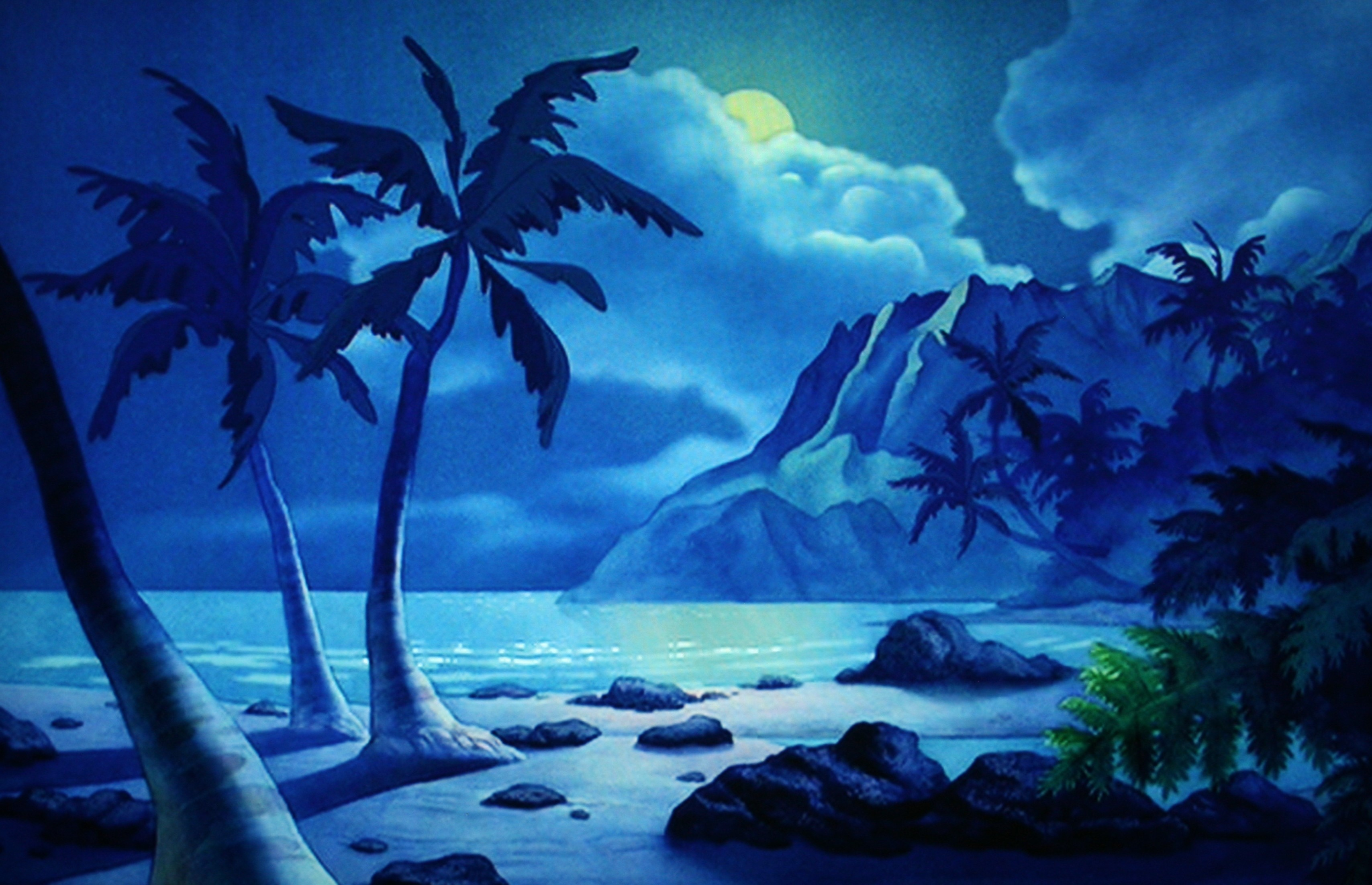 Wallpaper Stage Beach of Lilo and Stitch