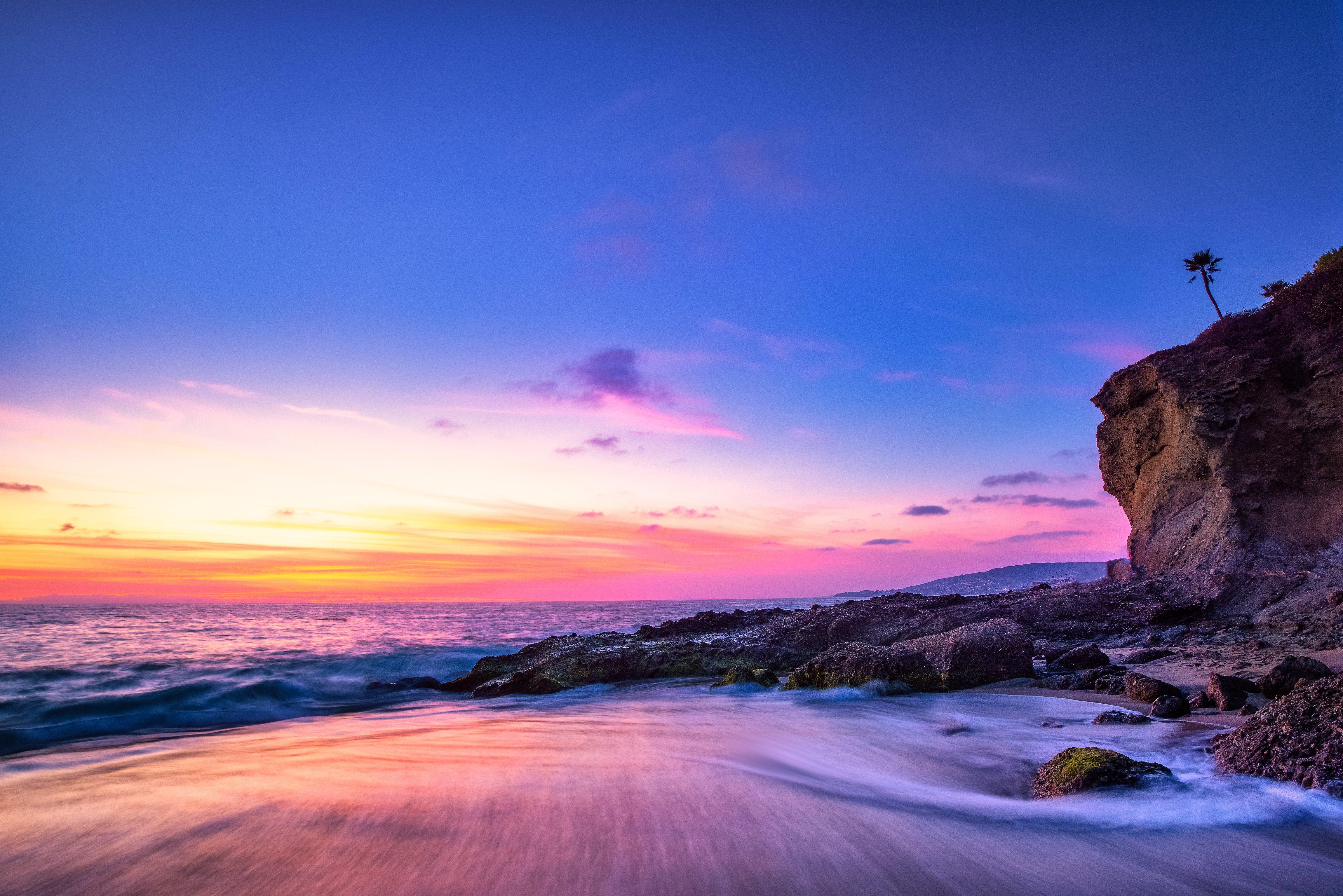 Fondos de pantalla Playa Laguna al atardecer