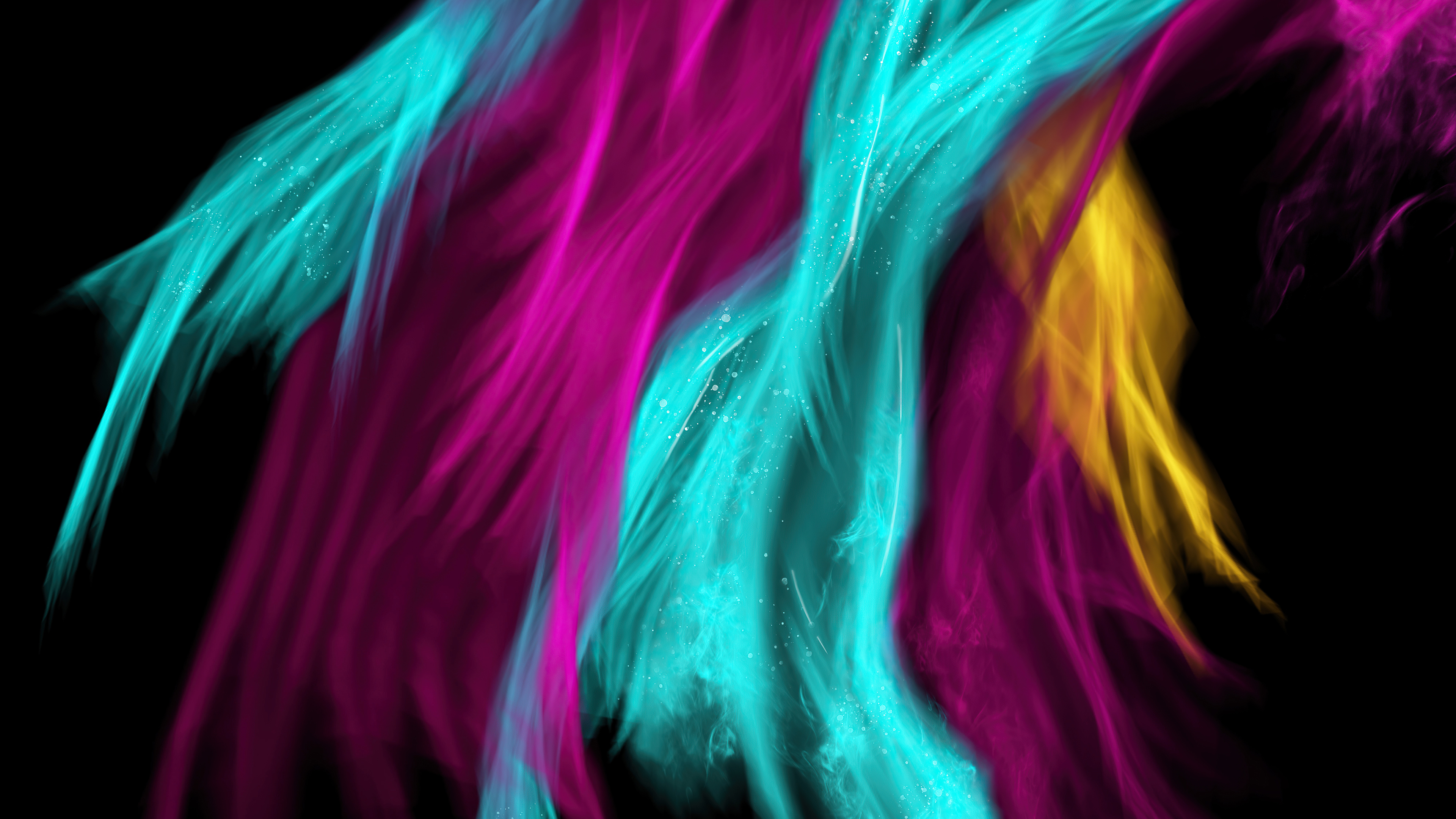 Wallpaper Colorful Feathers Abstract